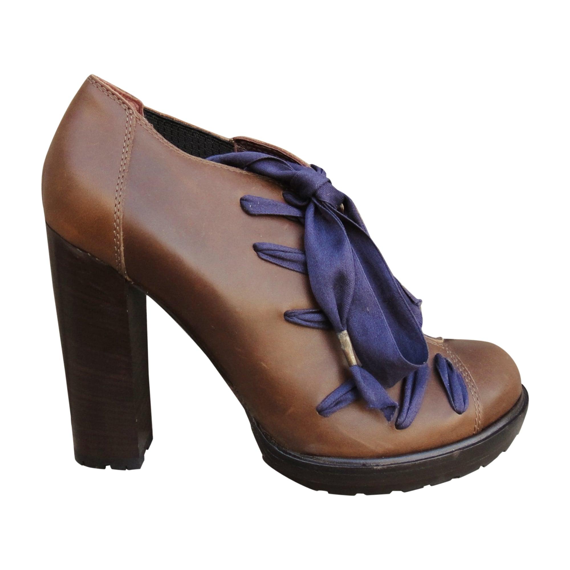 High Heel Ankle Boots VANESSA BRUNO Brown