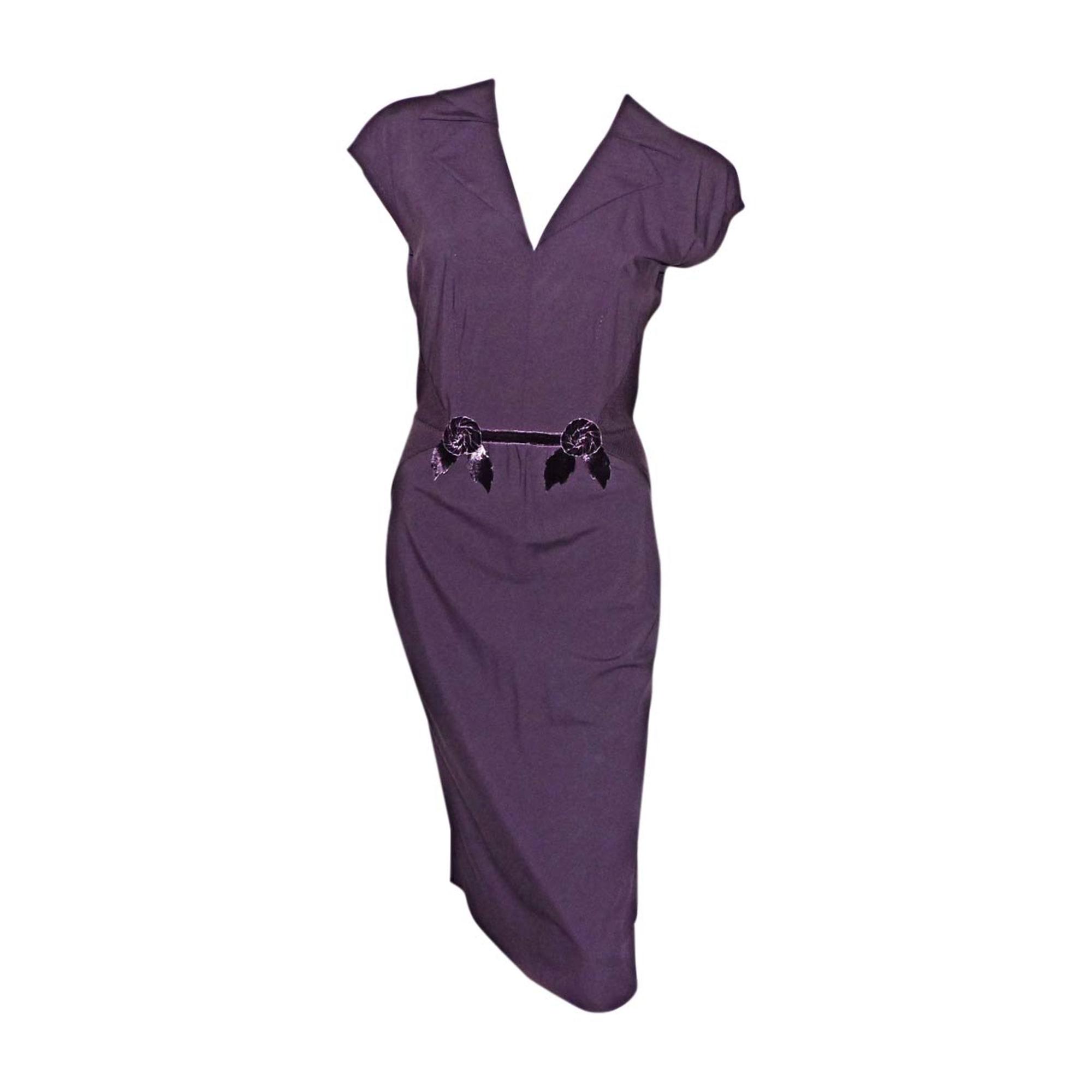 Robe mi-longue LOUIS VUITTON Violet, mauve, lavande