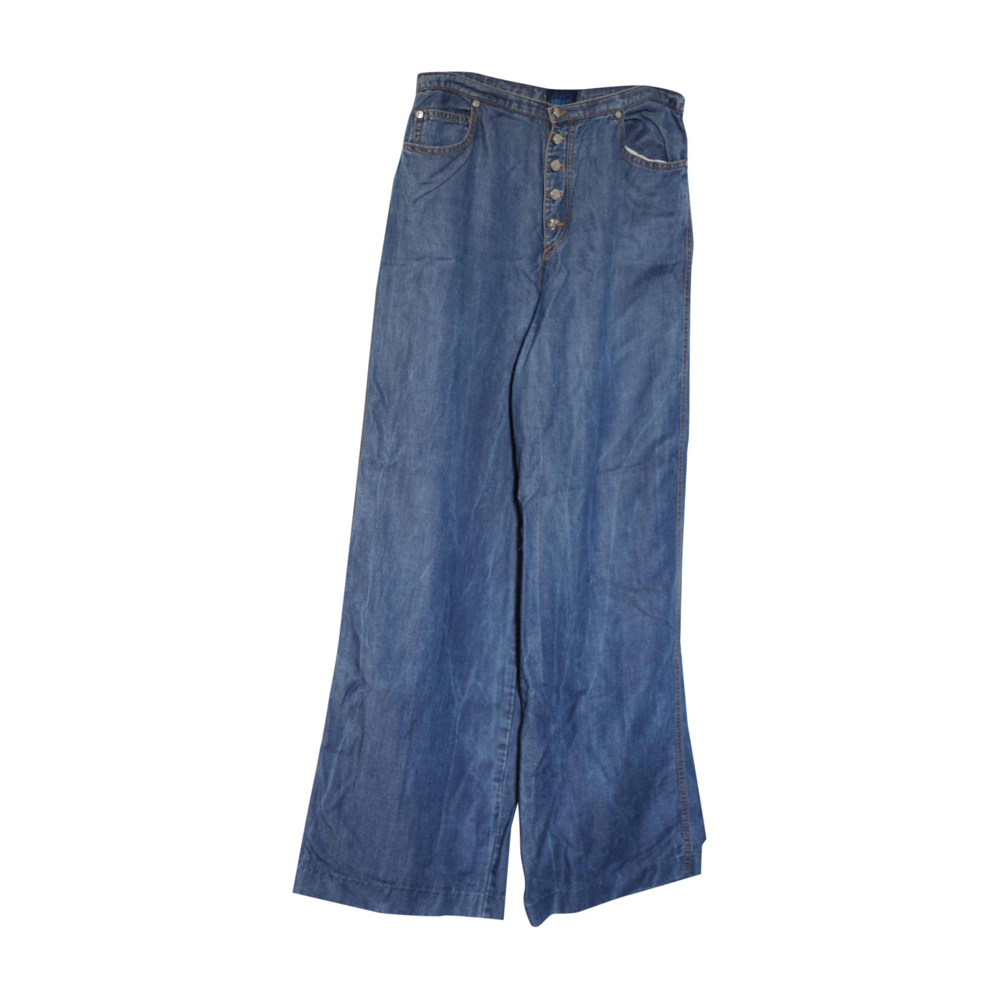 Jeans très evasé, patte d'éléphant KENZO Bleu, bleu marine, bleu turquoise