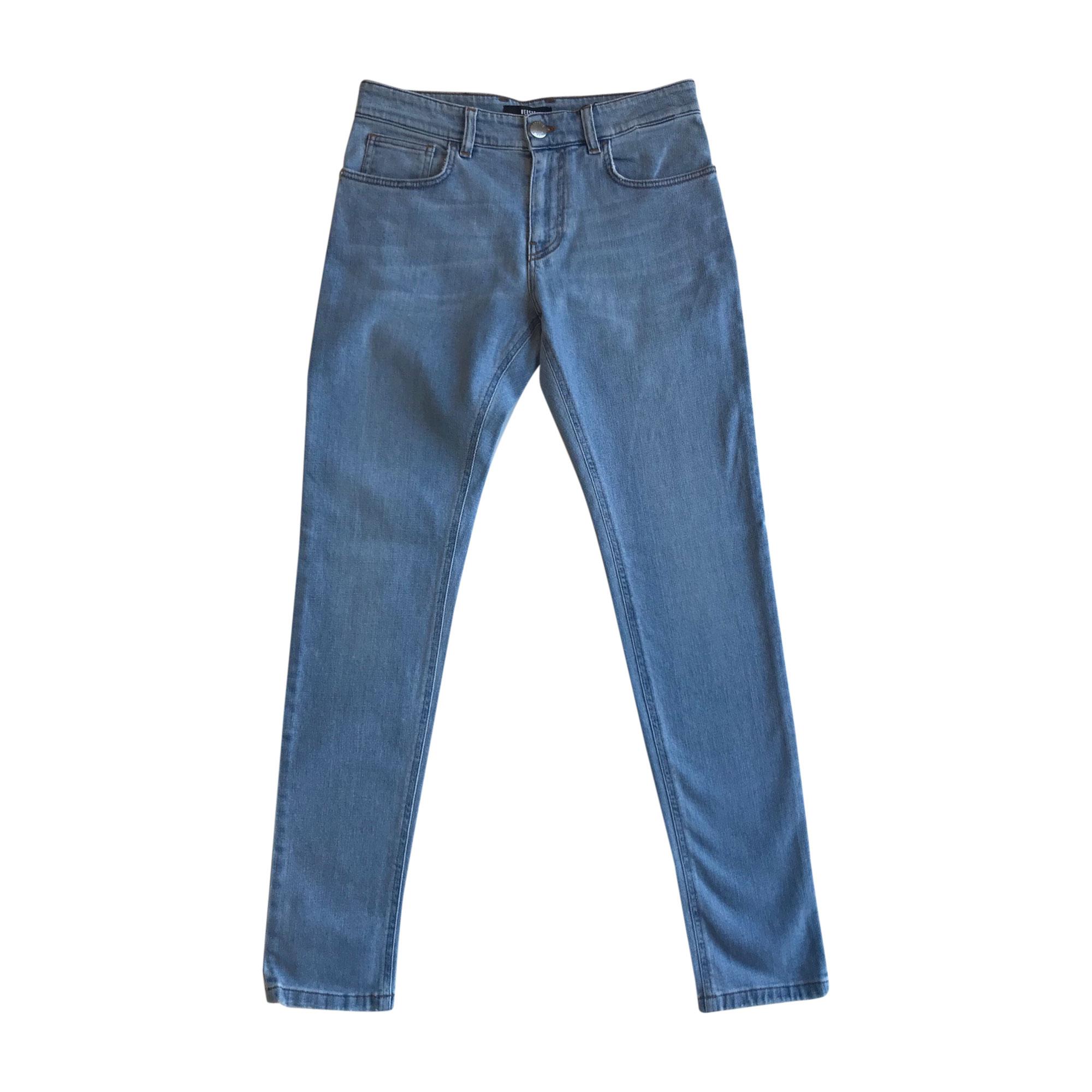 Jeans droit VERSUS VERSACE Bleu, bleu marine, bleu turquoise