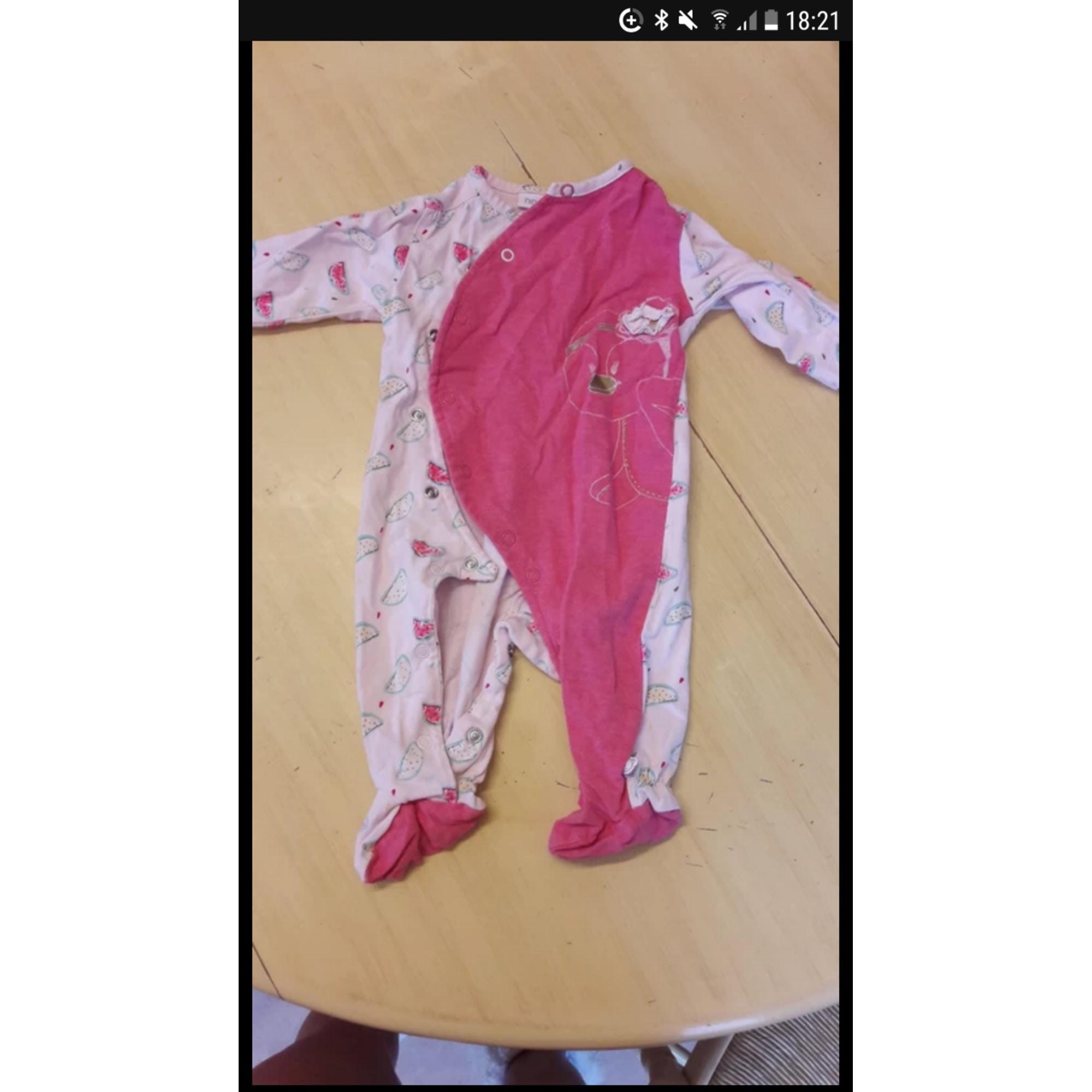 Pyjama NOUKIES Rose, fuschia, vieux rose