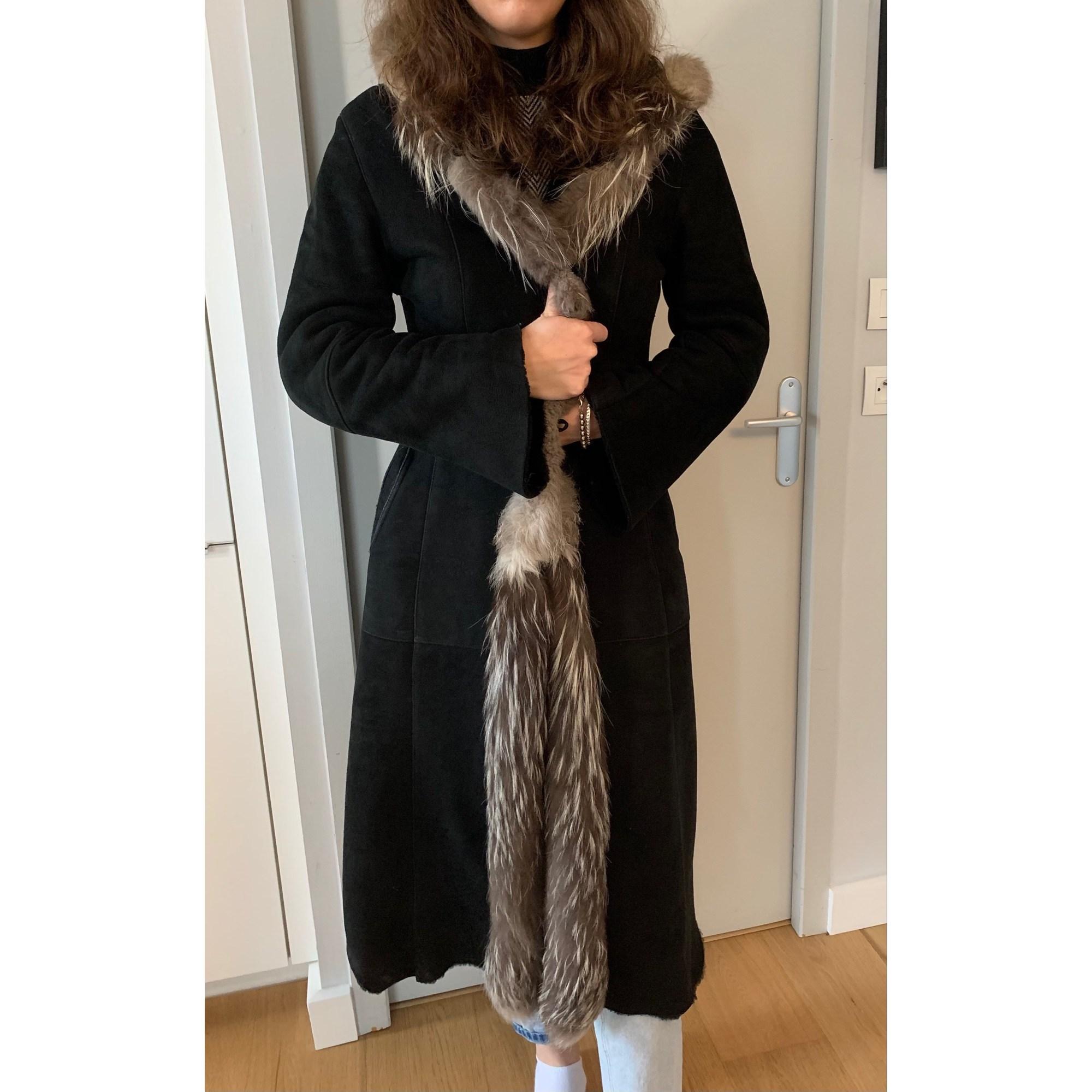 Manteau en fourrure GIORGIO Noir