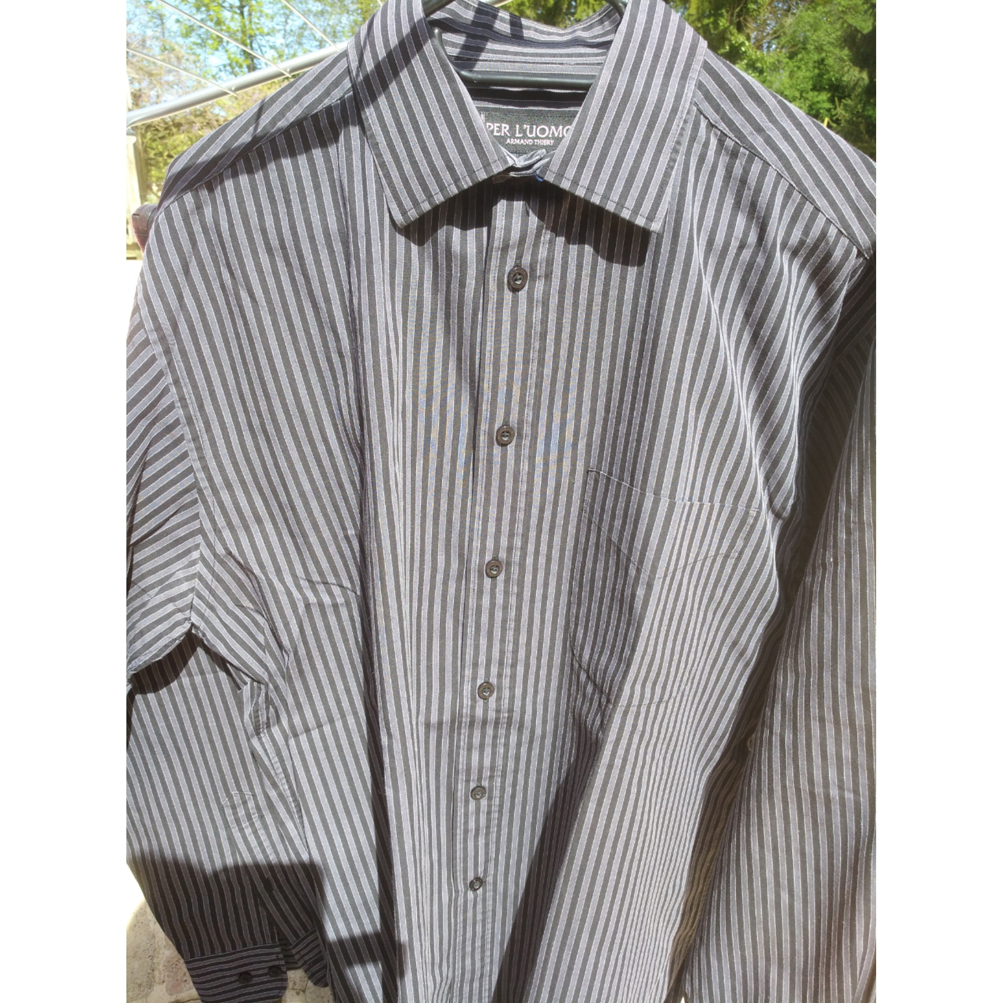 Chemise ARMAND THIERY Gris, anthracite