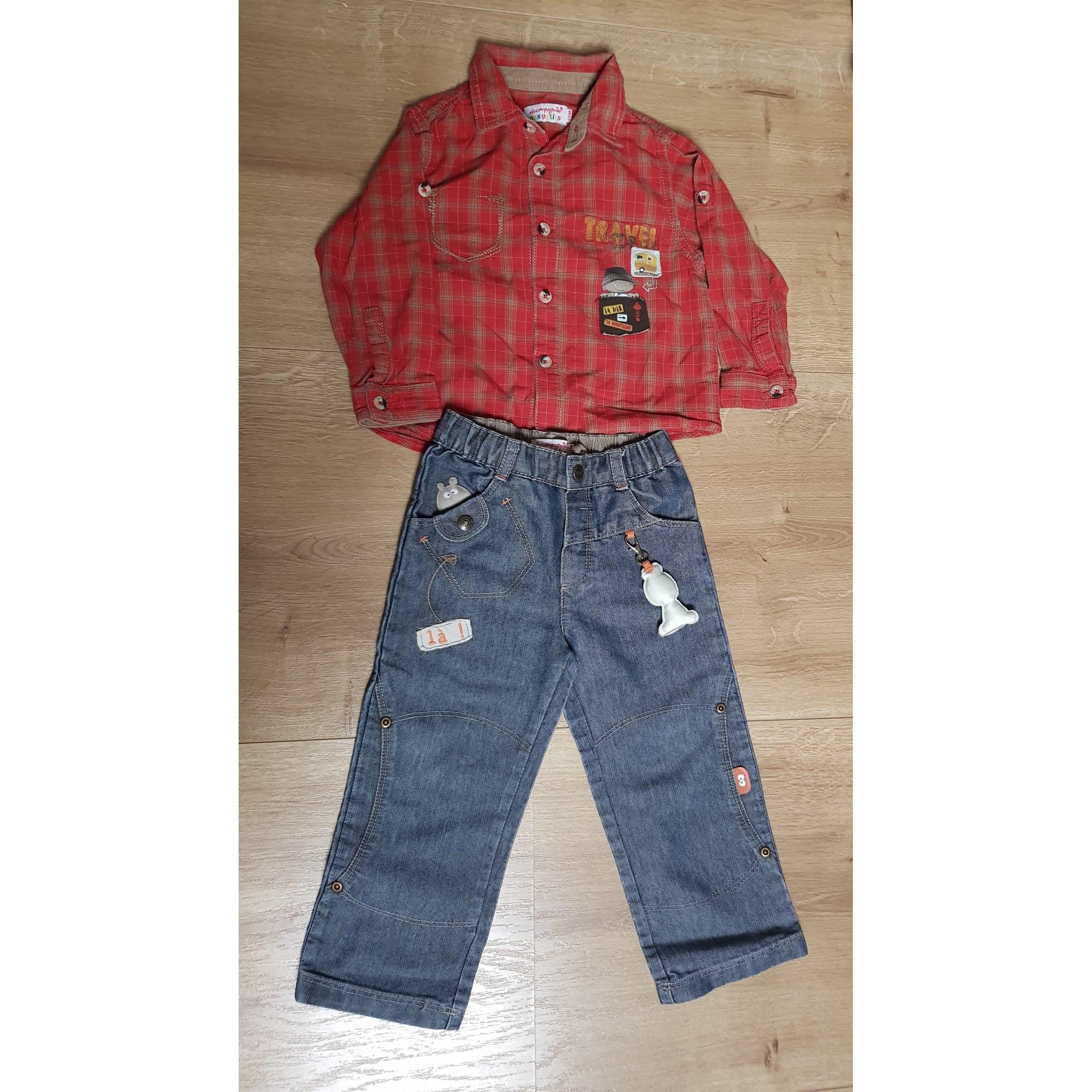 Pants Set, Outfit LA COMPAGNIE DES PETITS Red, burgundy