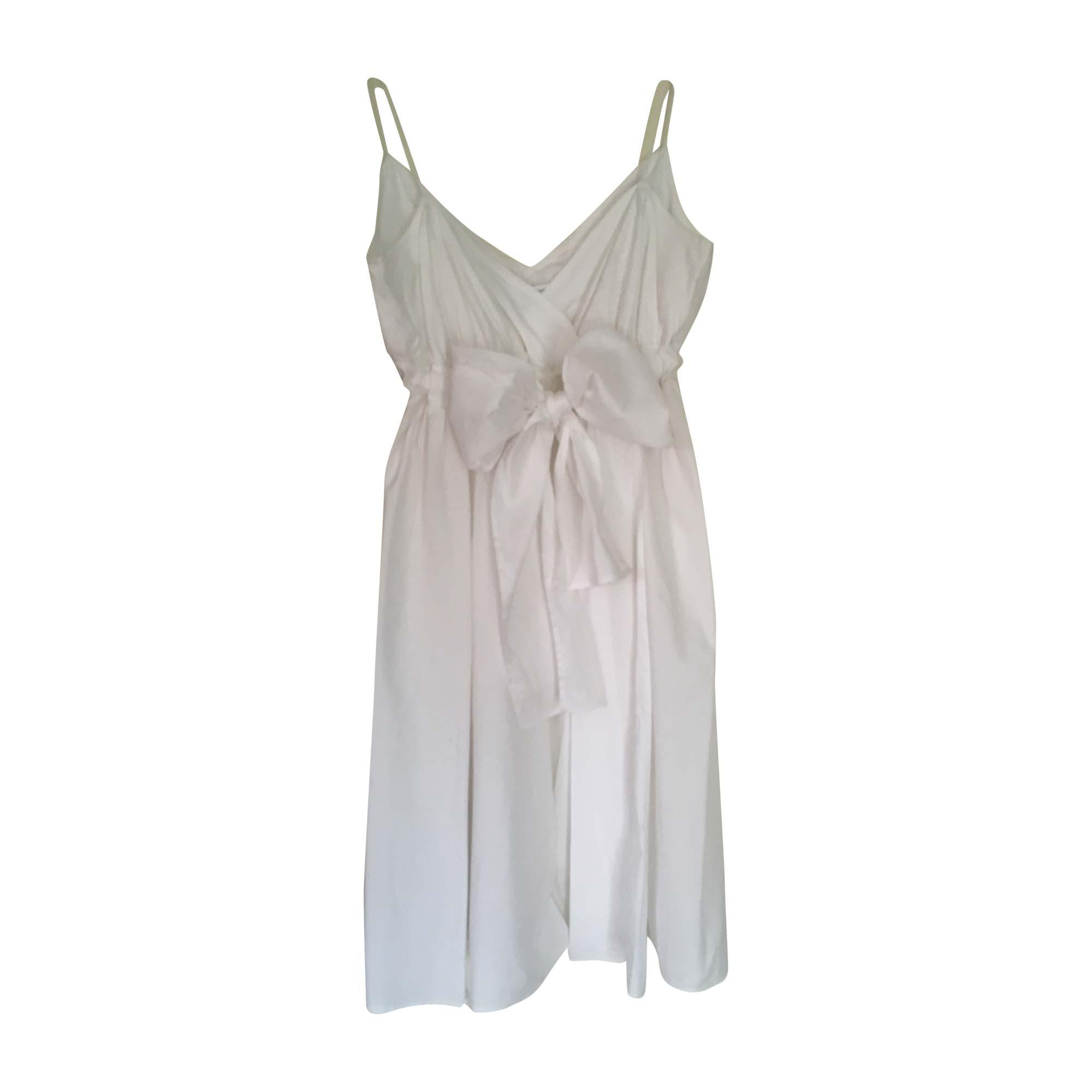 Robe mi-longue DIANE VON FURSTENBERG Blanc, blanc cassé, écru