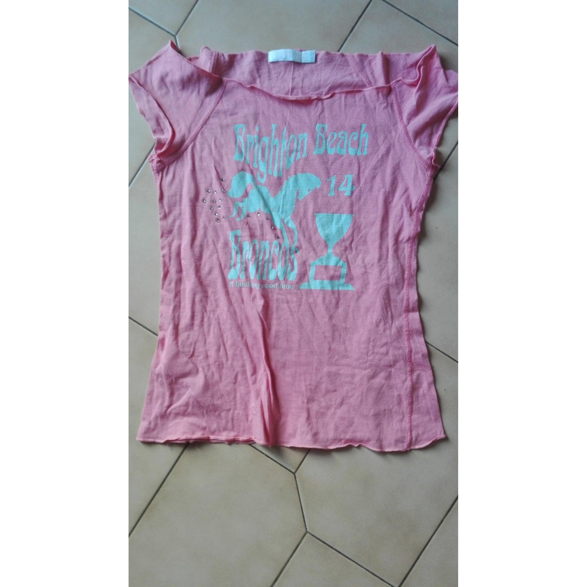 Top, tee-shirt ZARA Rose, fuschia, vieux rose