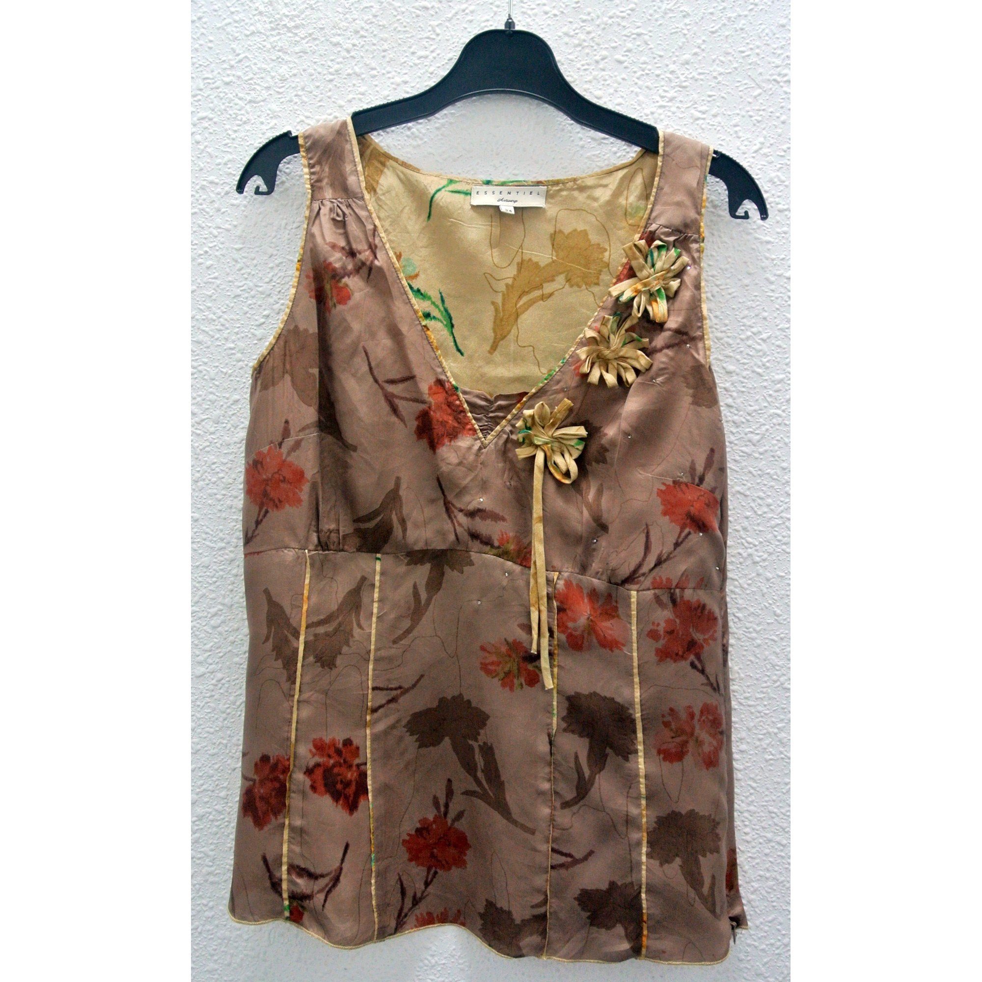 Top, tee-shirt ESSENTIEL ANTWERP Marron
