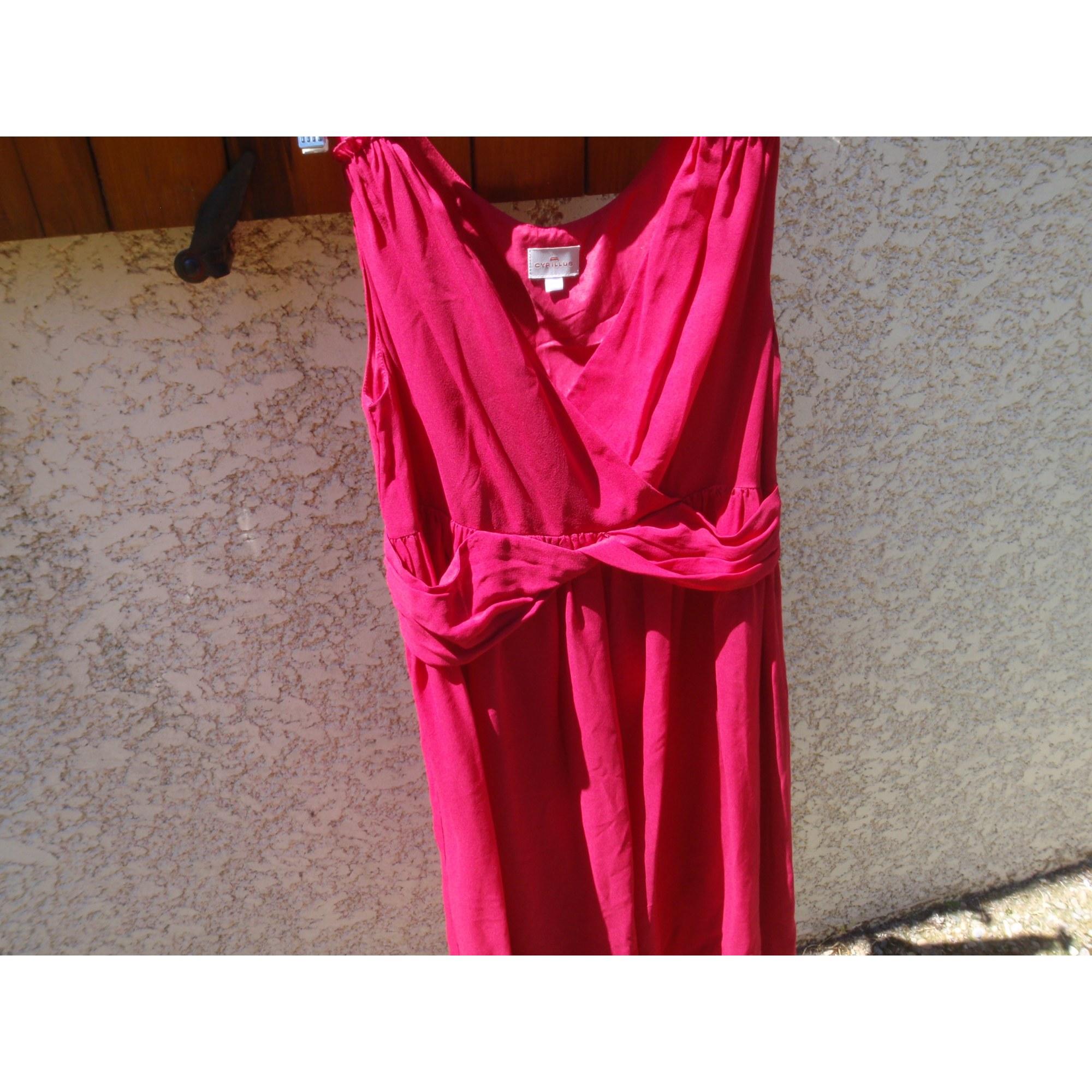 Robe mi-longue CYRILLUS Rose, fuschia, vieux rose