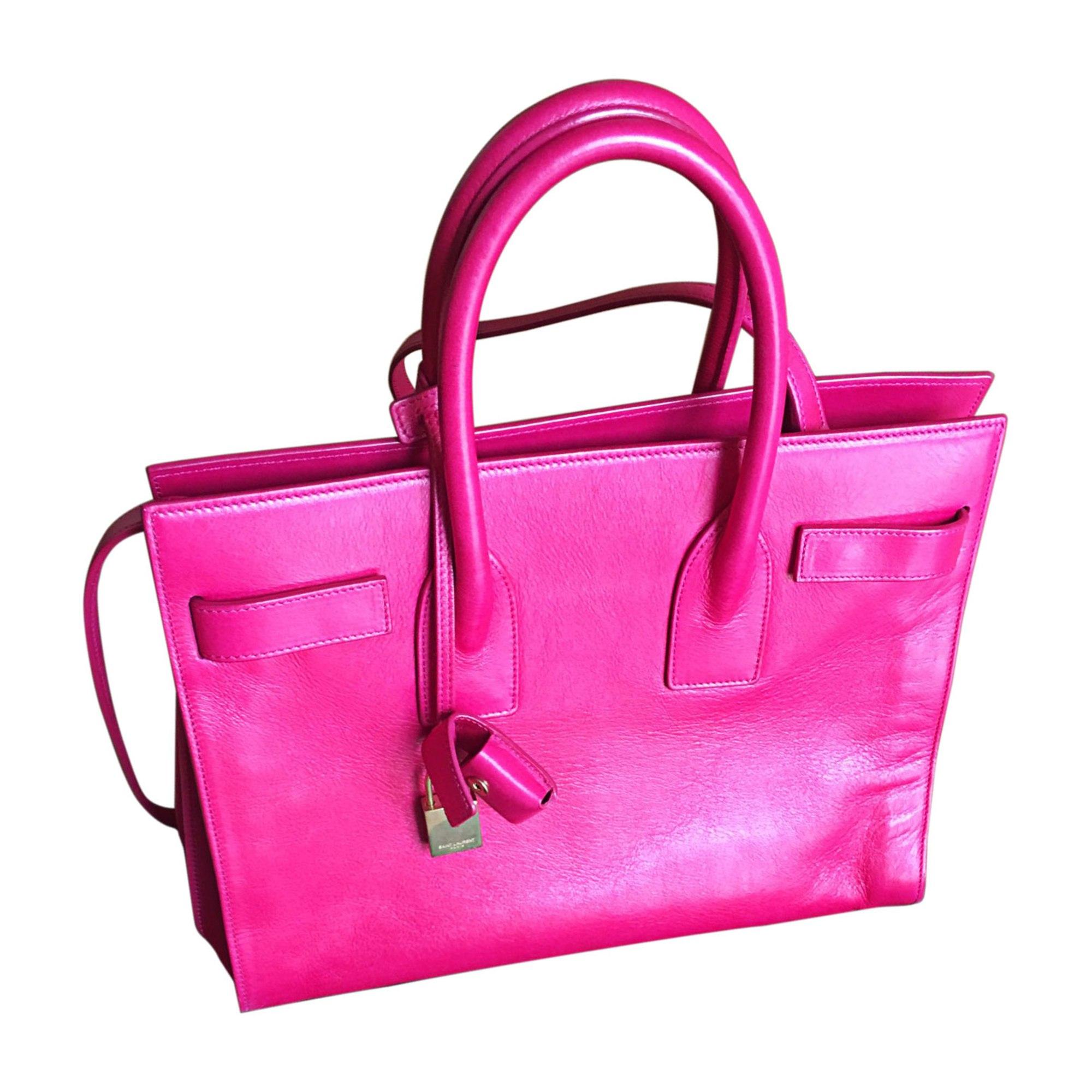Lederhandtasche SAINT LAURENT Sac de Jour Pink,  altrosa