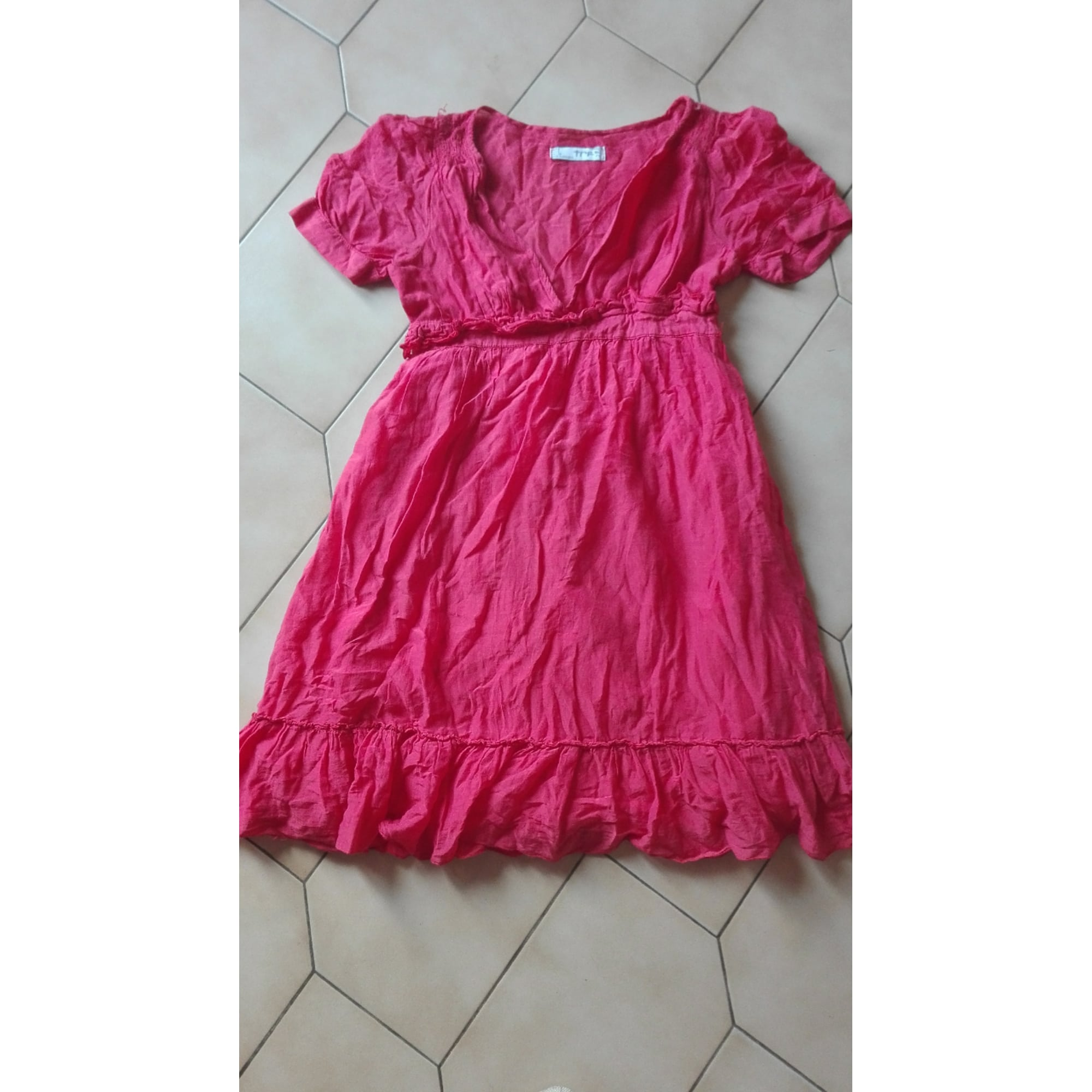 Robe courte ZARA Rose, fuschia, vieux rose