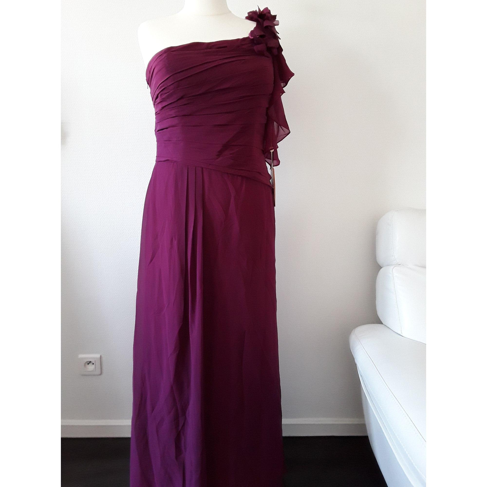 Robe longue EDRESSIT Prune et Rose Poudré