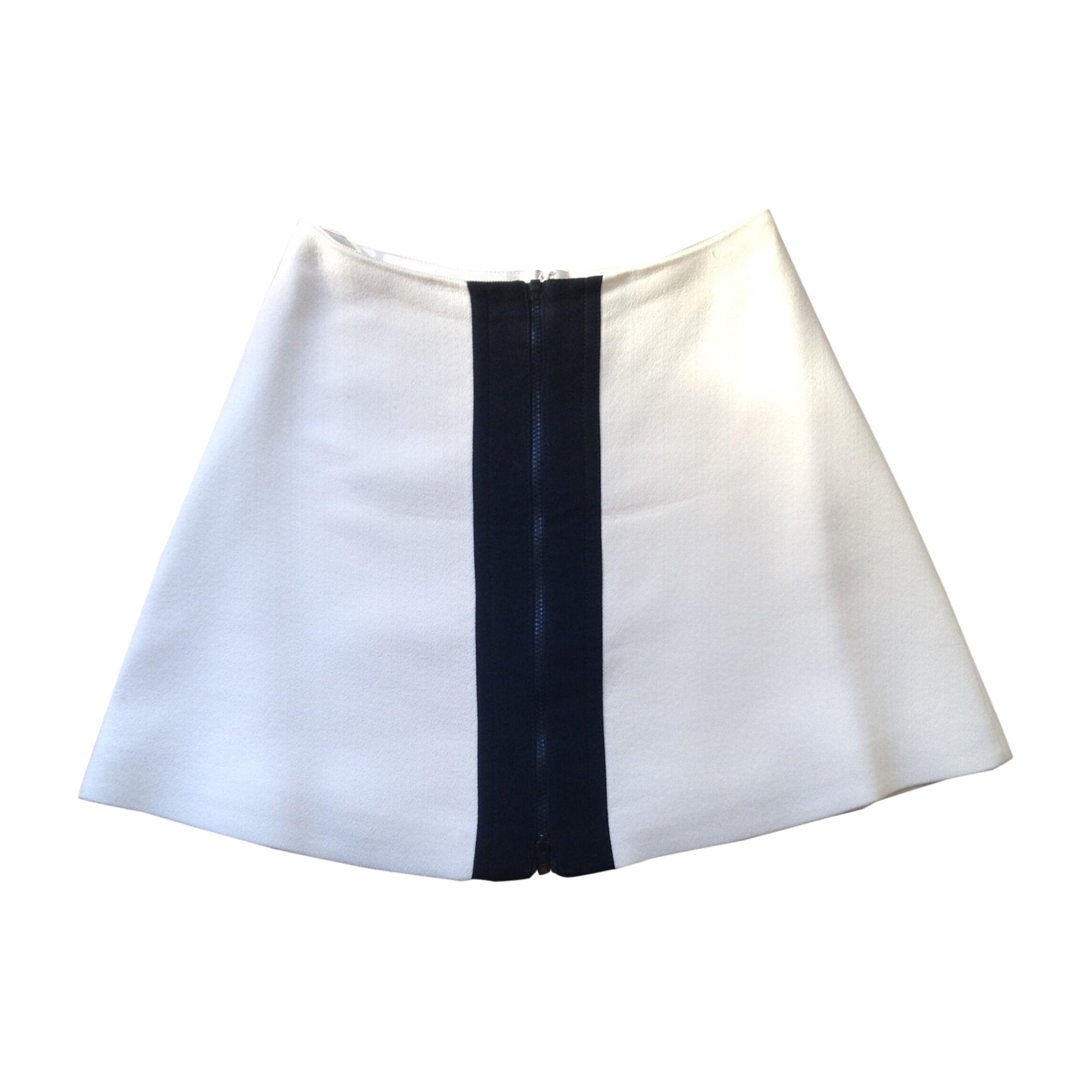 Jupe courte CARVEN Blanc, blanc cassé, écru