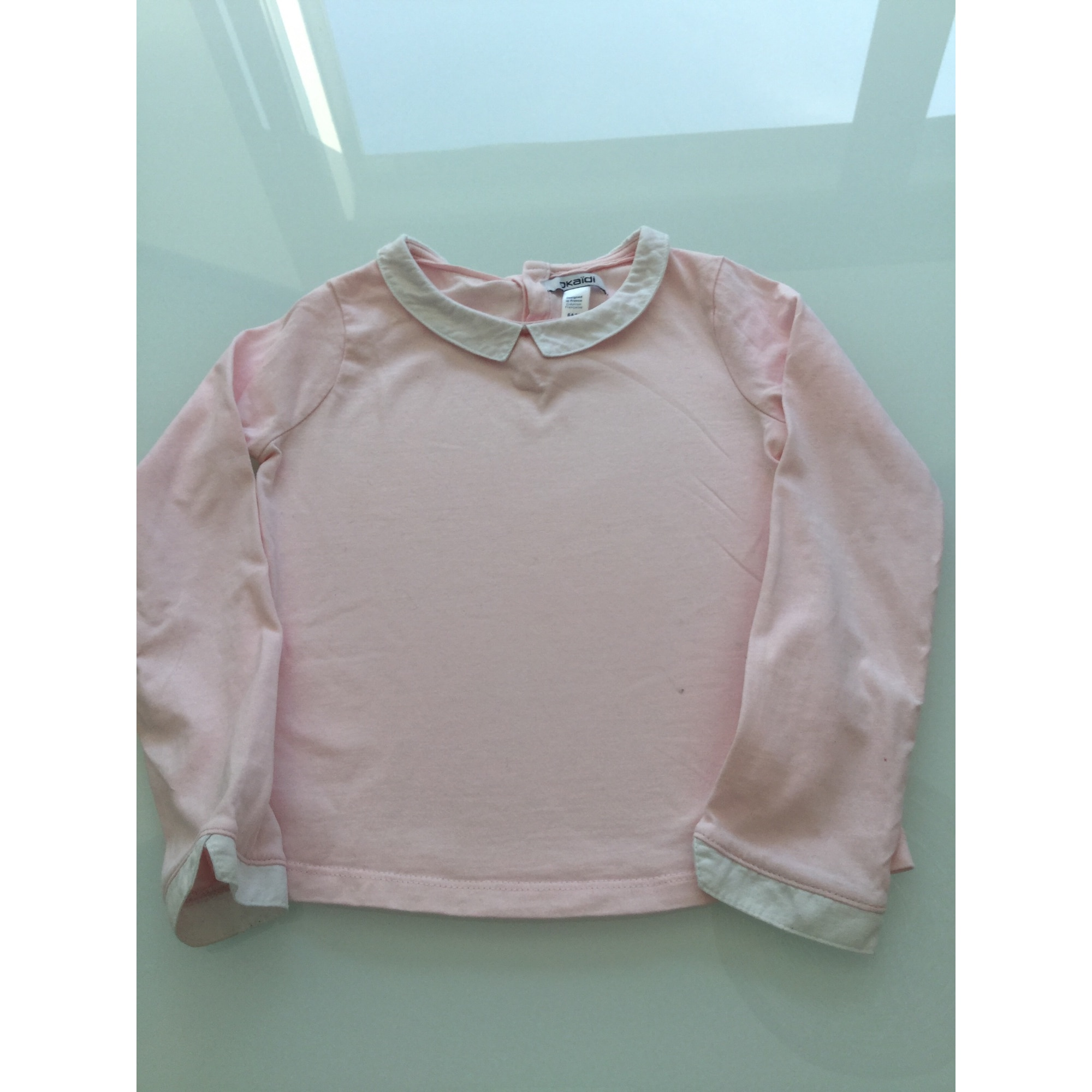 Top, Tee-shirt OKAÏDI Rose, fuschia, vieux rose
