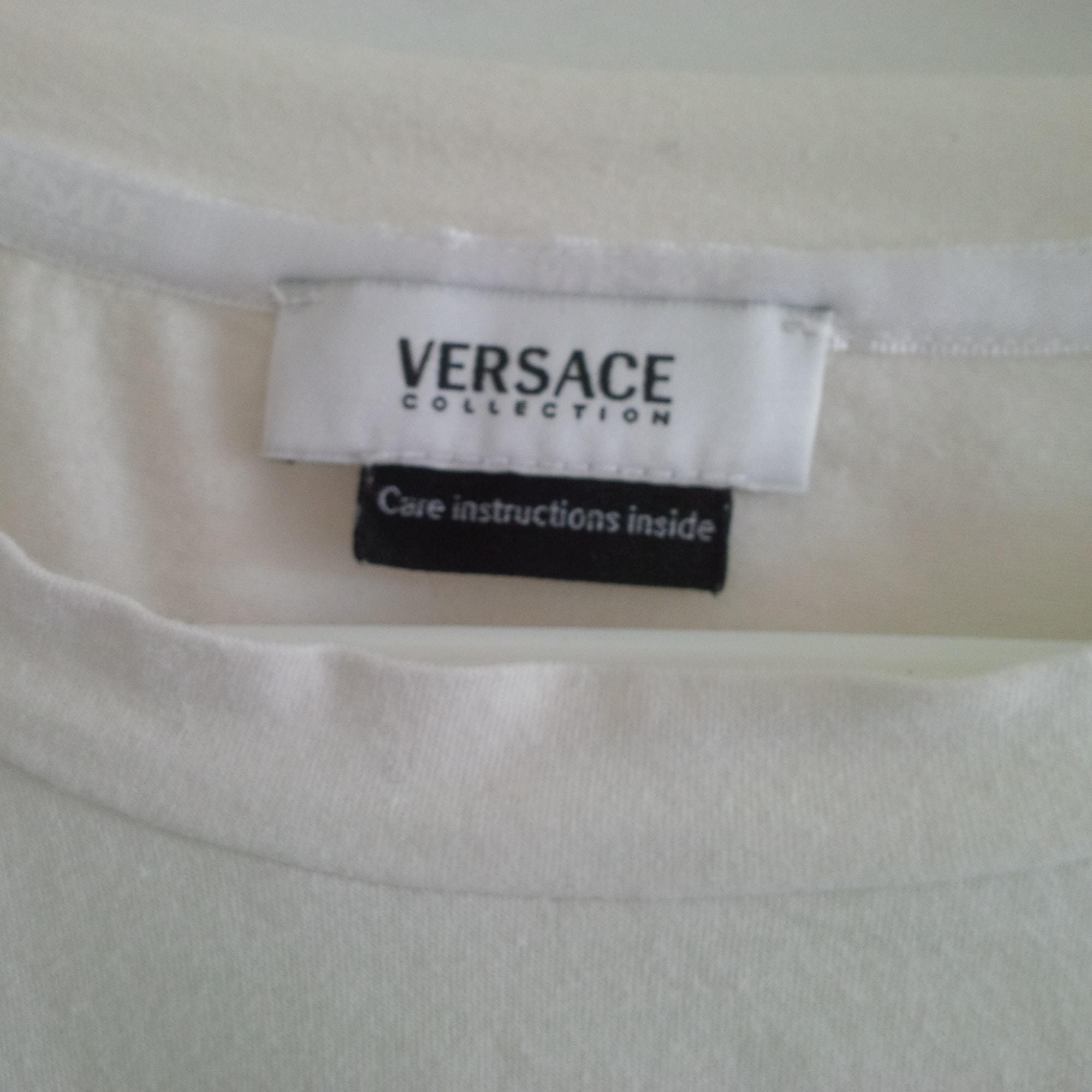 Polo VERSACE White, off-white, ecru