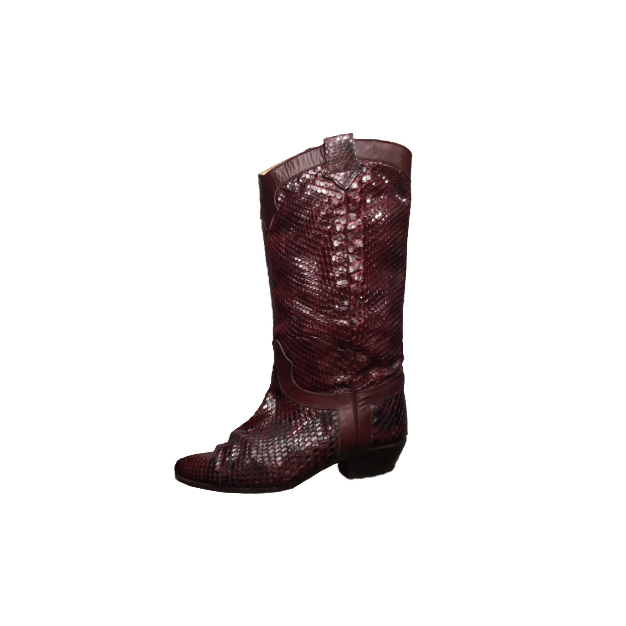 Santiags, bottes cowboy SARTORE Rouge, bordeaux