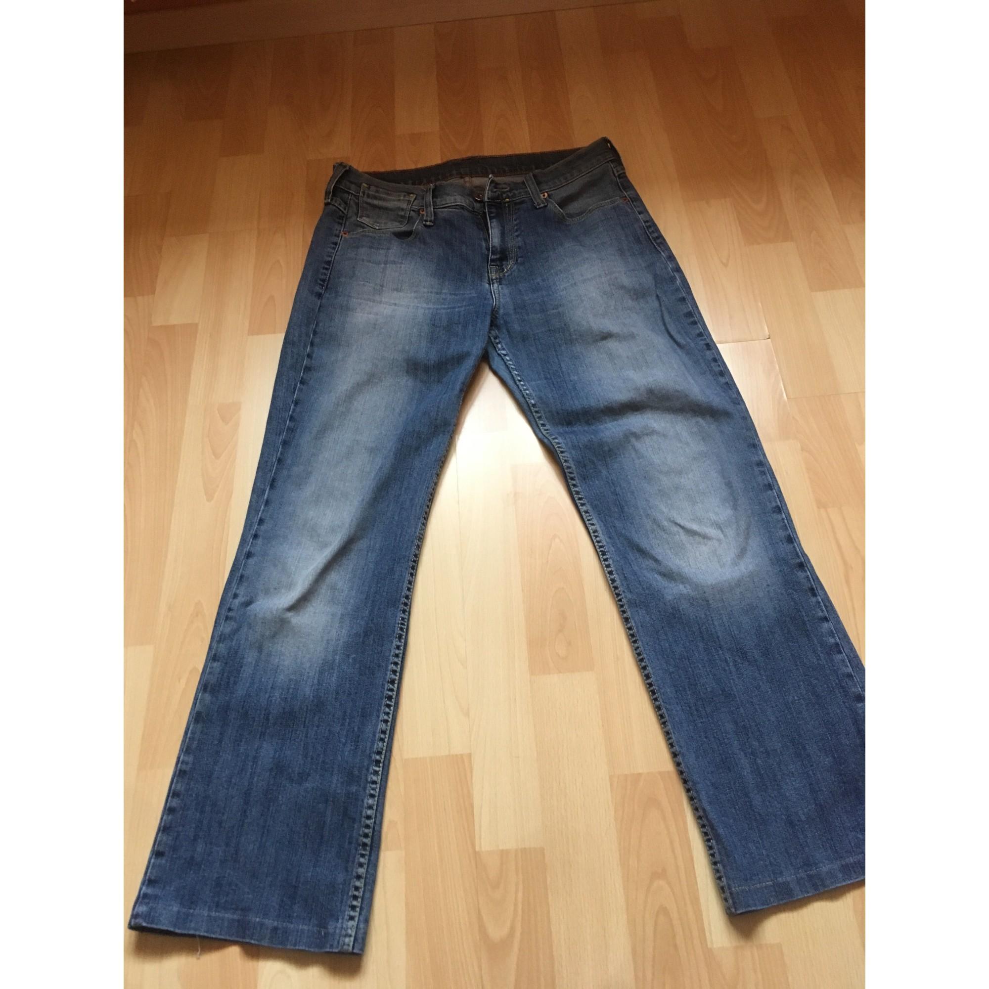 Jeans droit MUSTANG Bleu, bleu marine, bleu turquoise