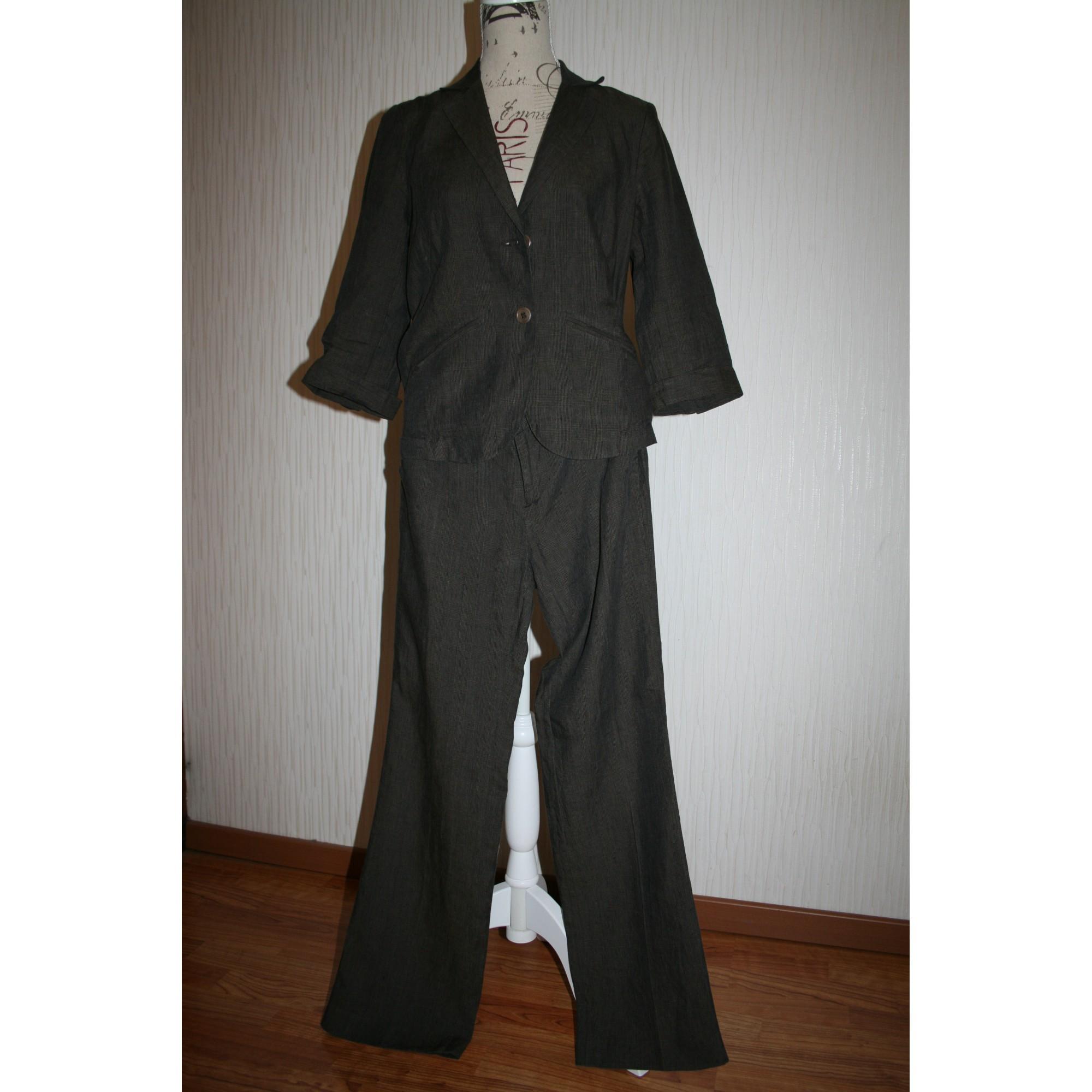 Tailleur pantalon COMPTOIR DES COTONNIERS Marron