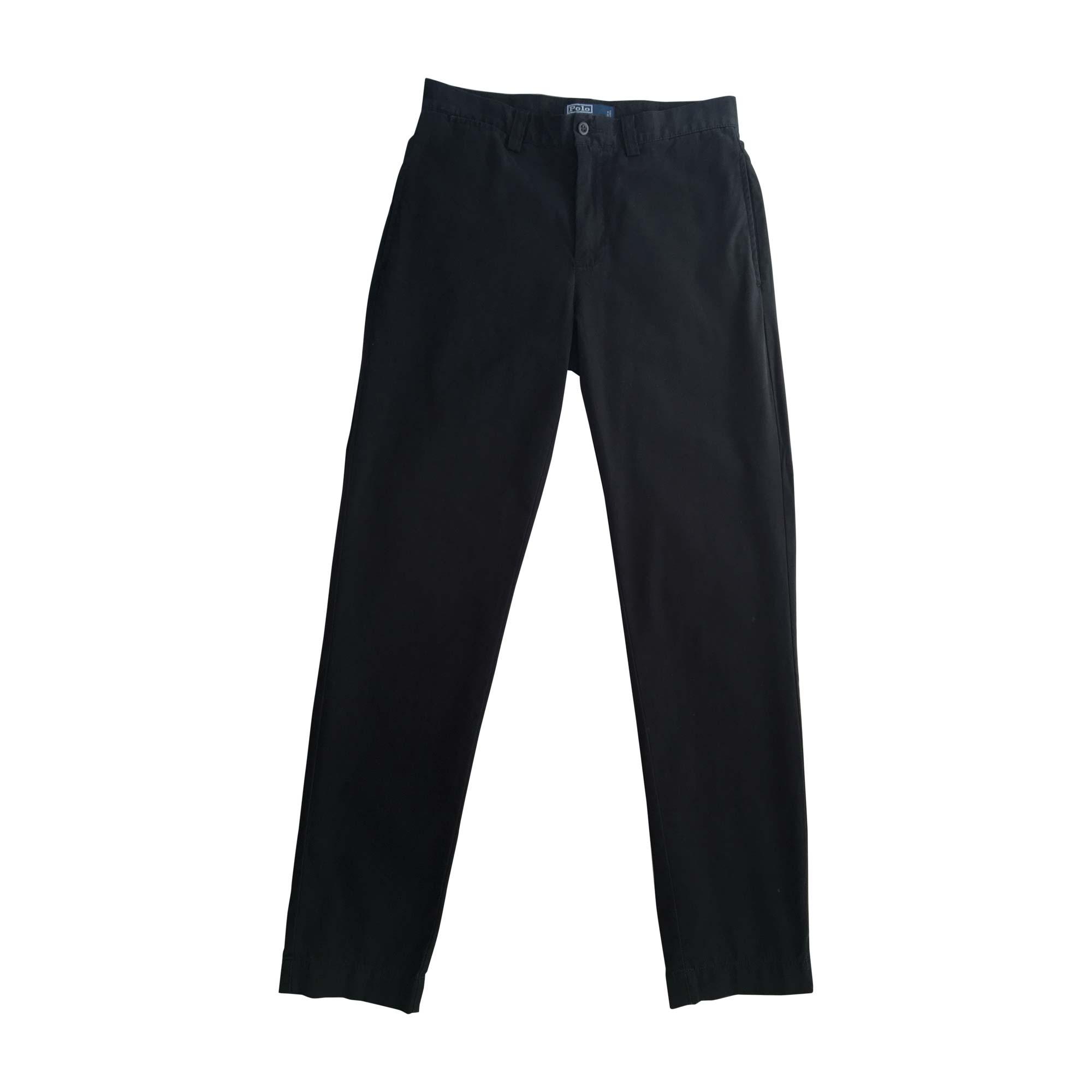 Pantalon droit RALPH LAUREN Noir