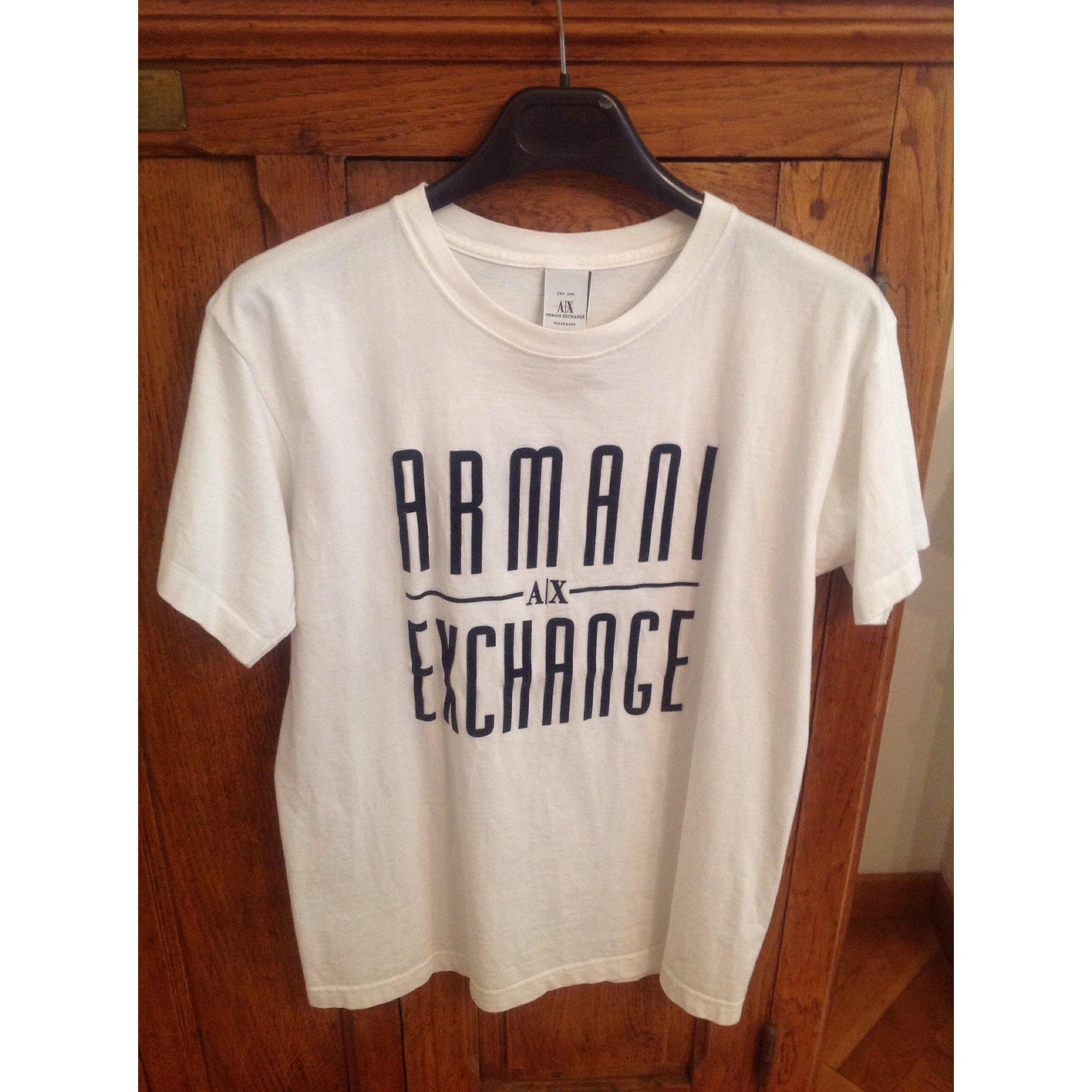 Top, tee-shirt ARMANI EXCHANGE Blanc, blanc cassé, écru
