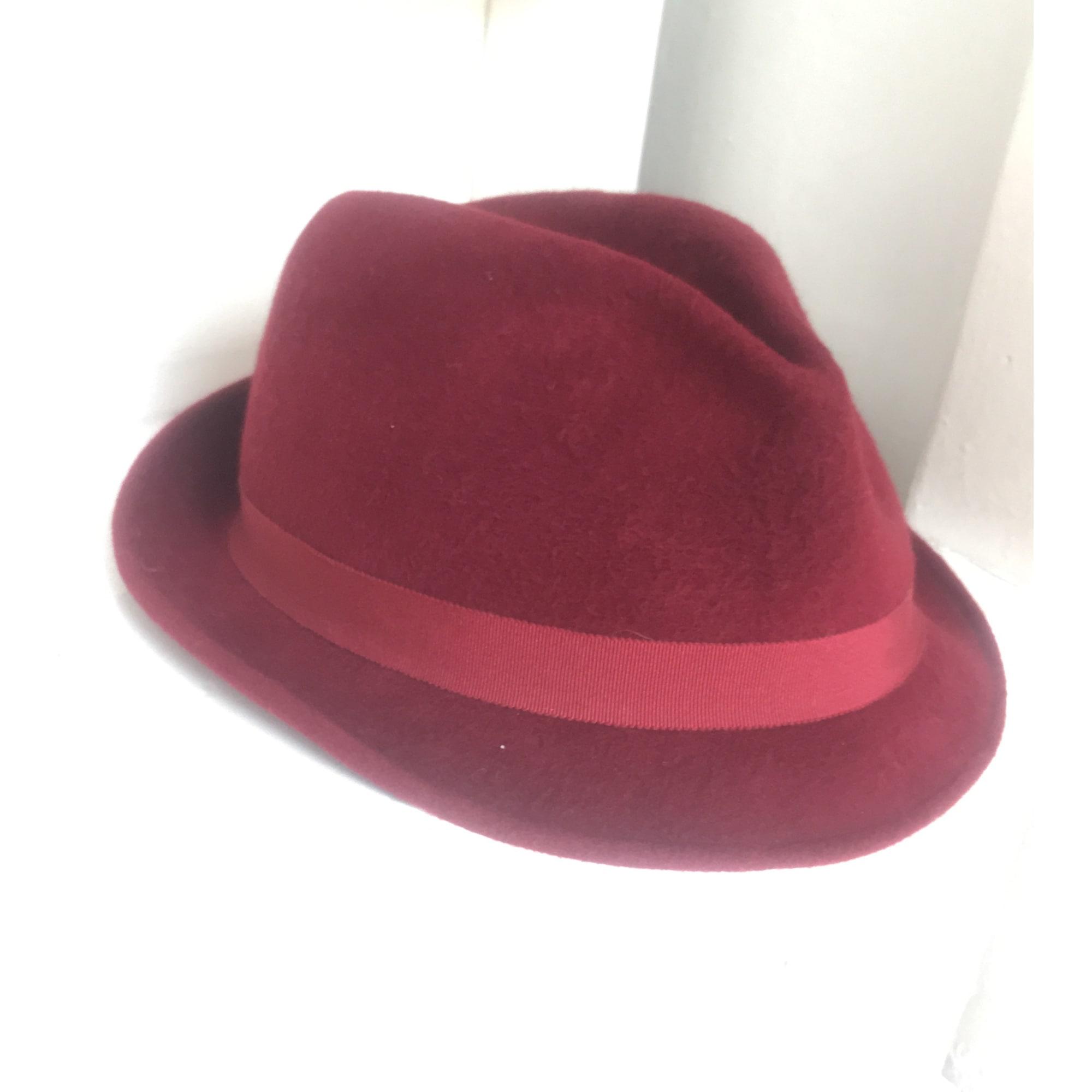 Chapeau MARIE MERCIER Rouge, bordeaux