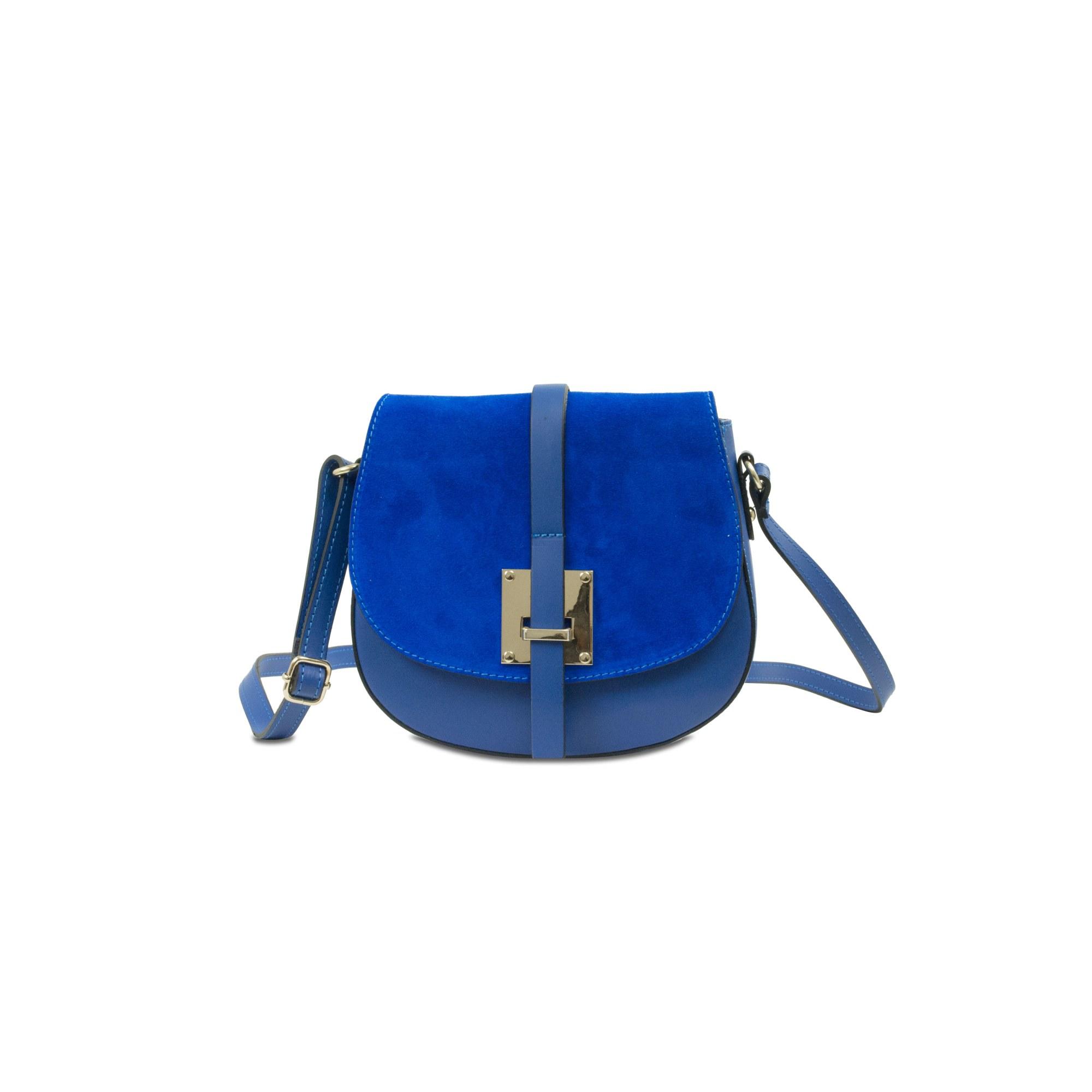 Sac en bandoulière en cuir INFINITIF Bleu, bleu marine, bleu turquoise