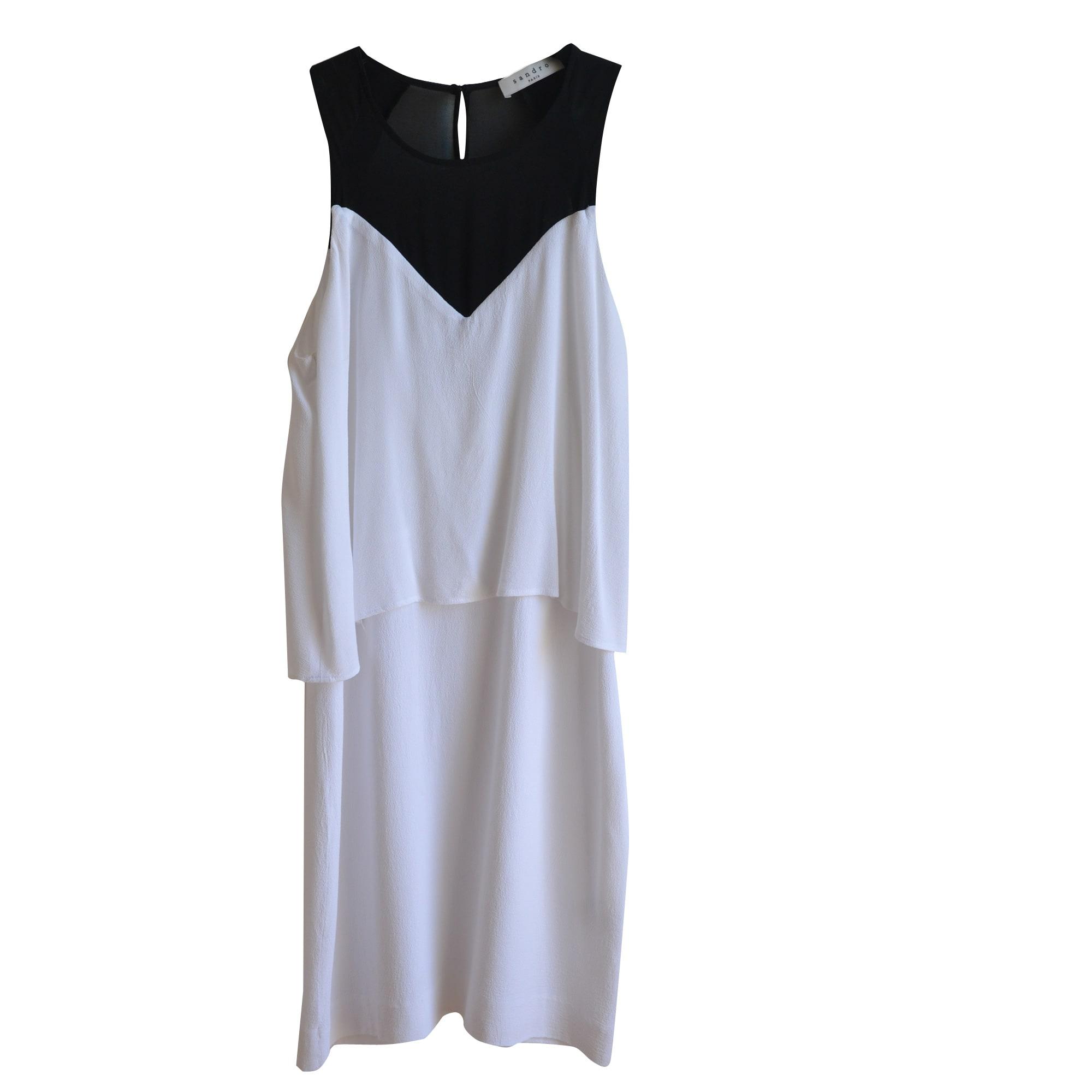 Robe mi-longue SANDRO Blanc, blanc cassé, écru