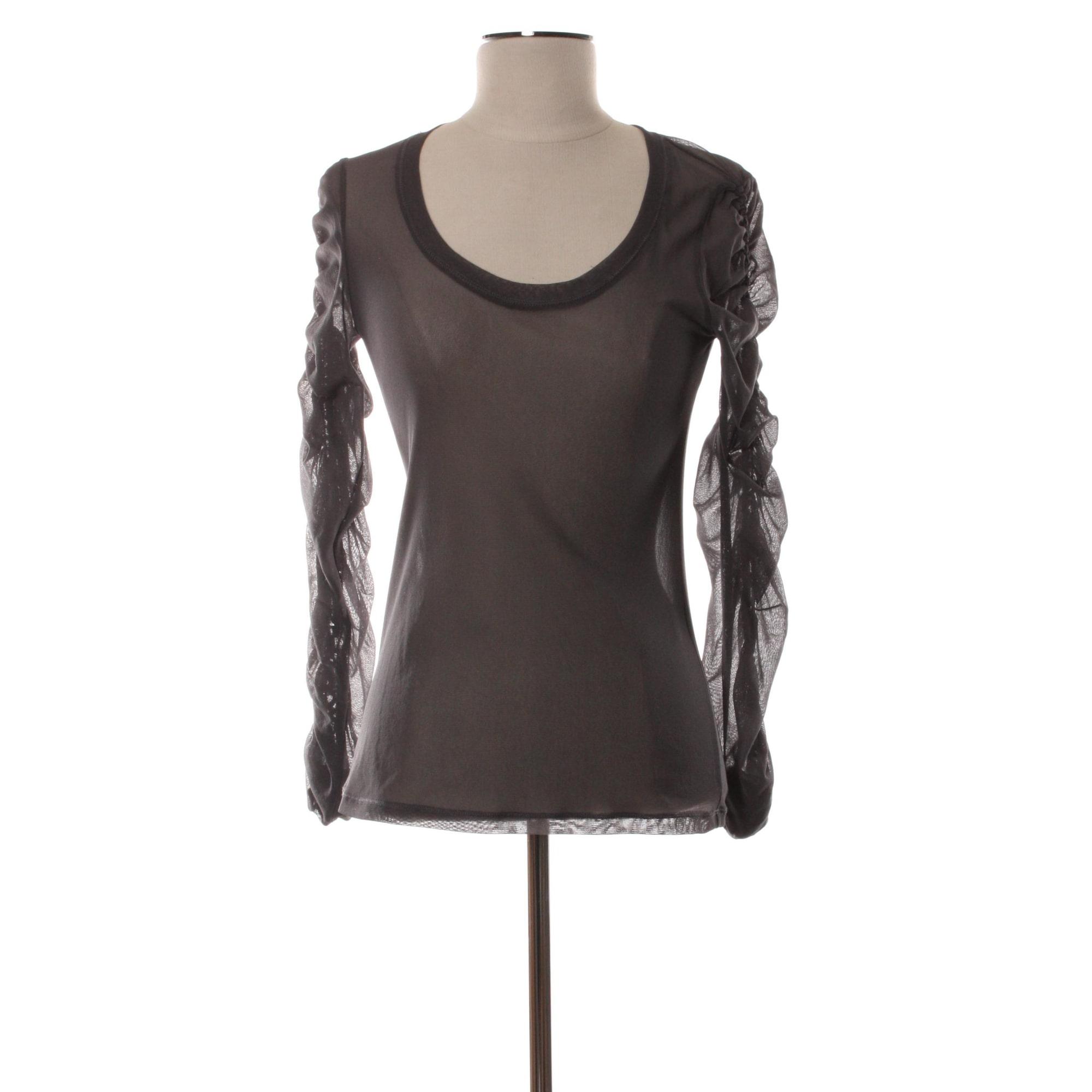 Top, tee-shirt DECA Gris, anthracite