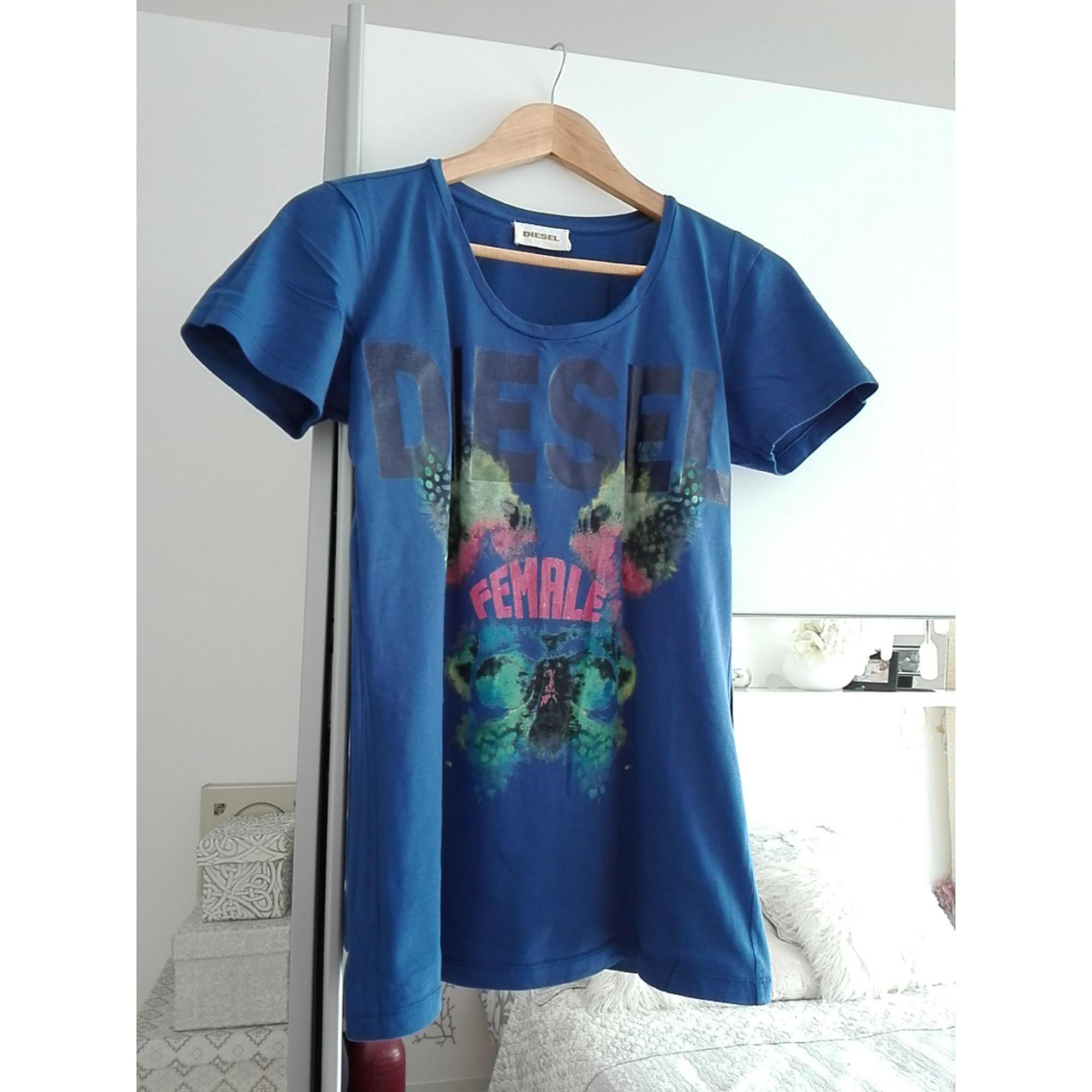 Top, tee-shirt DIESEL Bleu, bleu marine, bleu turquoise
