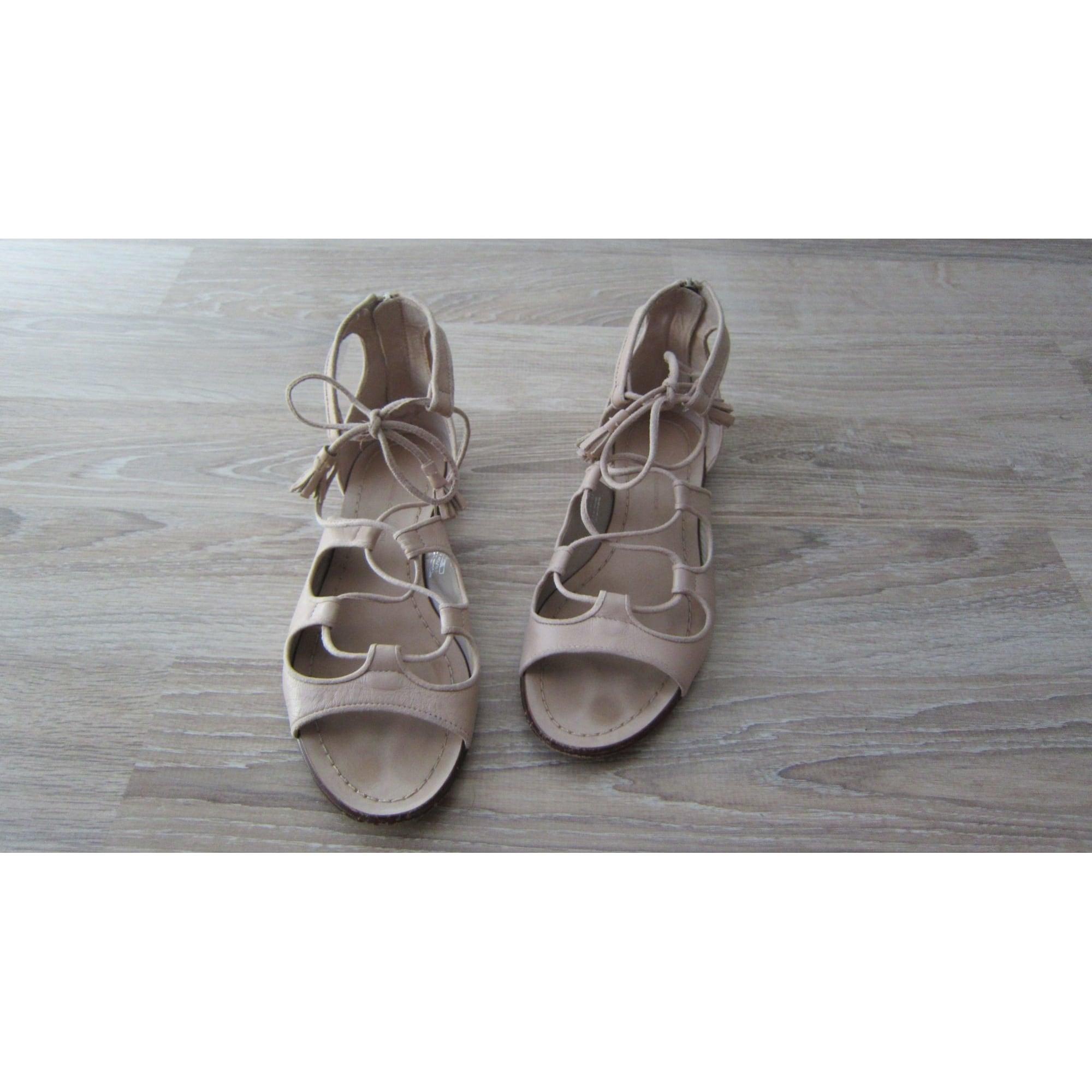 Sandales plates  ZARA Rose, fuschia, vieux rose