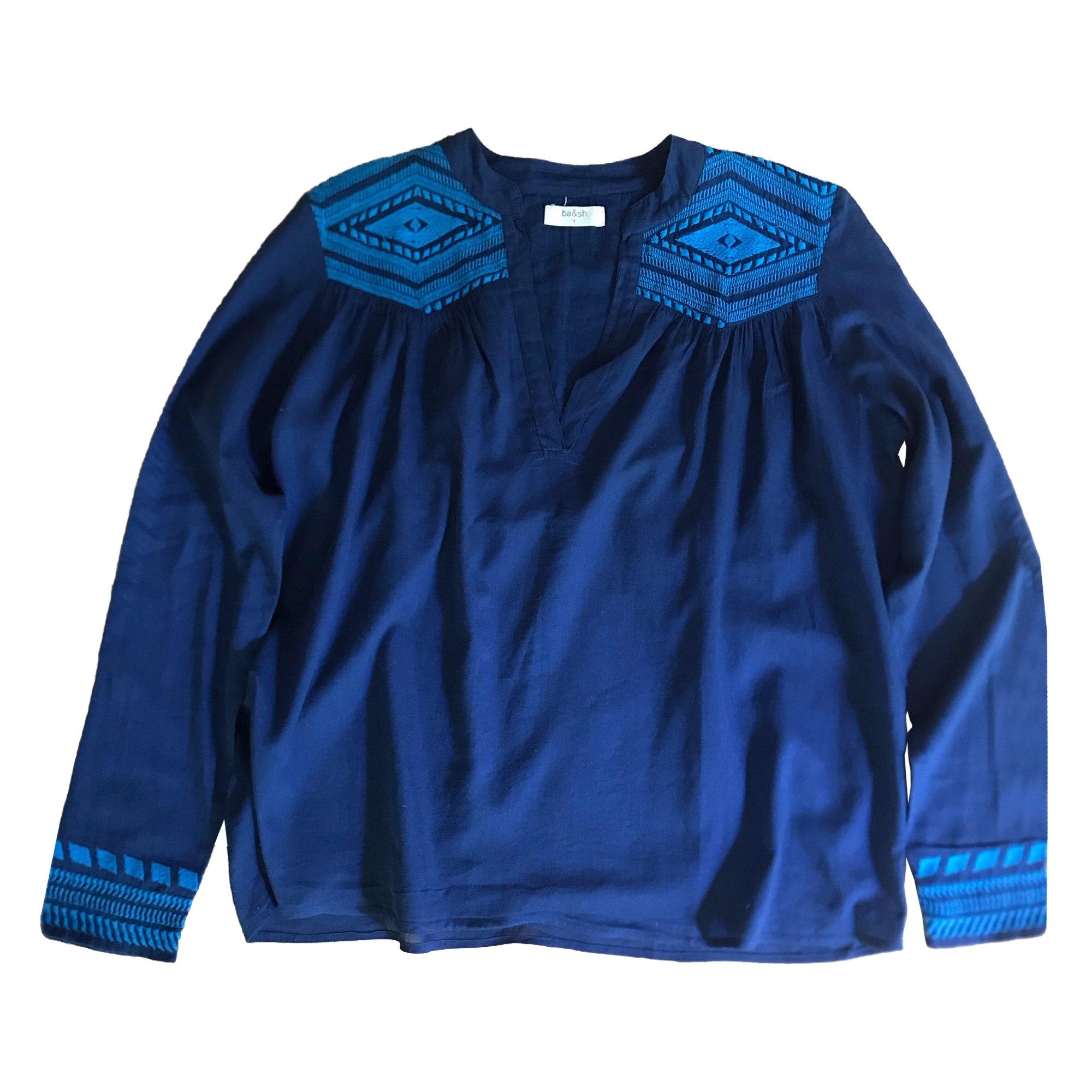 Blouse BA&SH Bleu, bleu marine, bleu turquoise