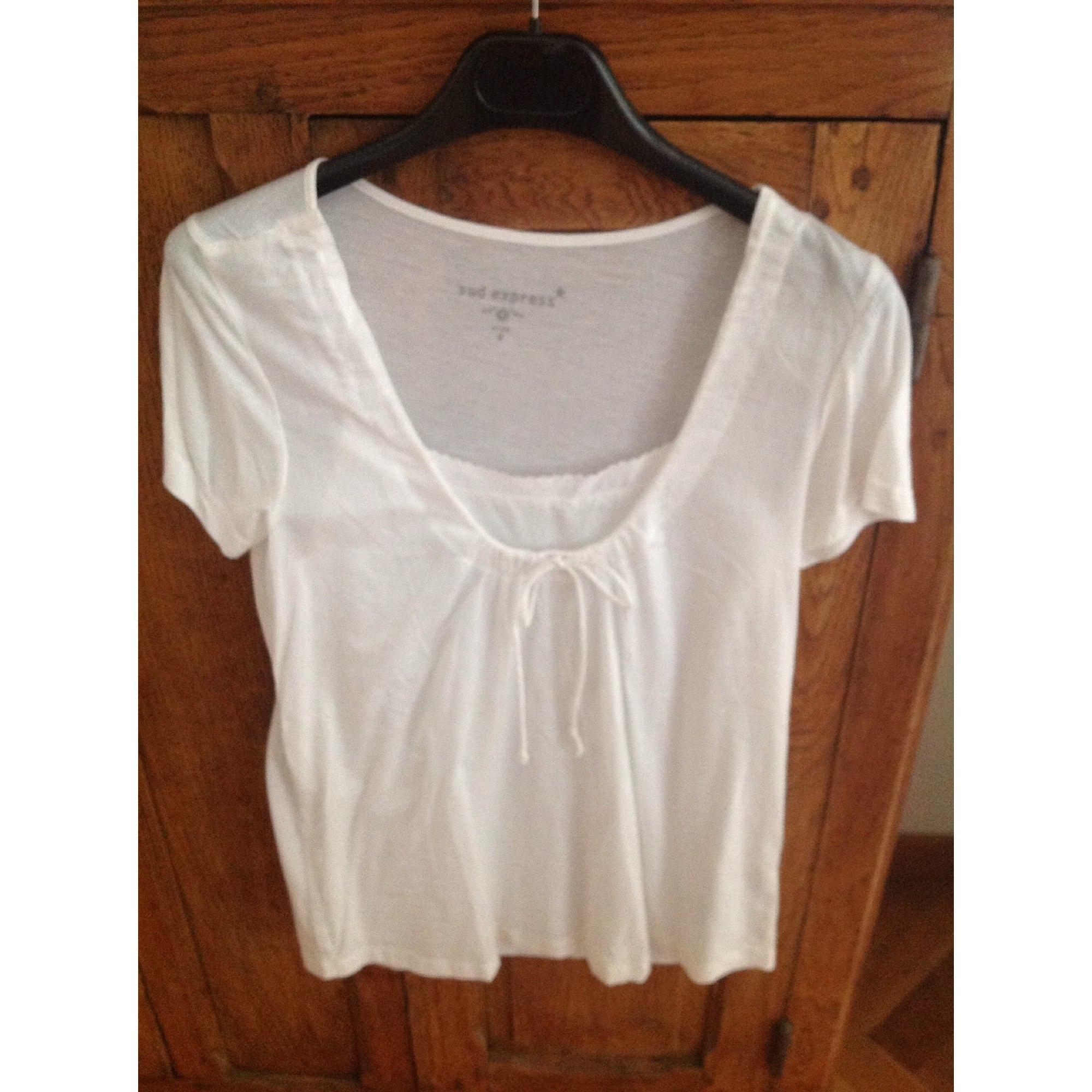 Top, tee-shirt SUD EXPRESS Blanc, blanc cassé, écru