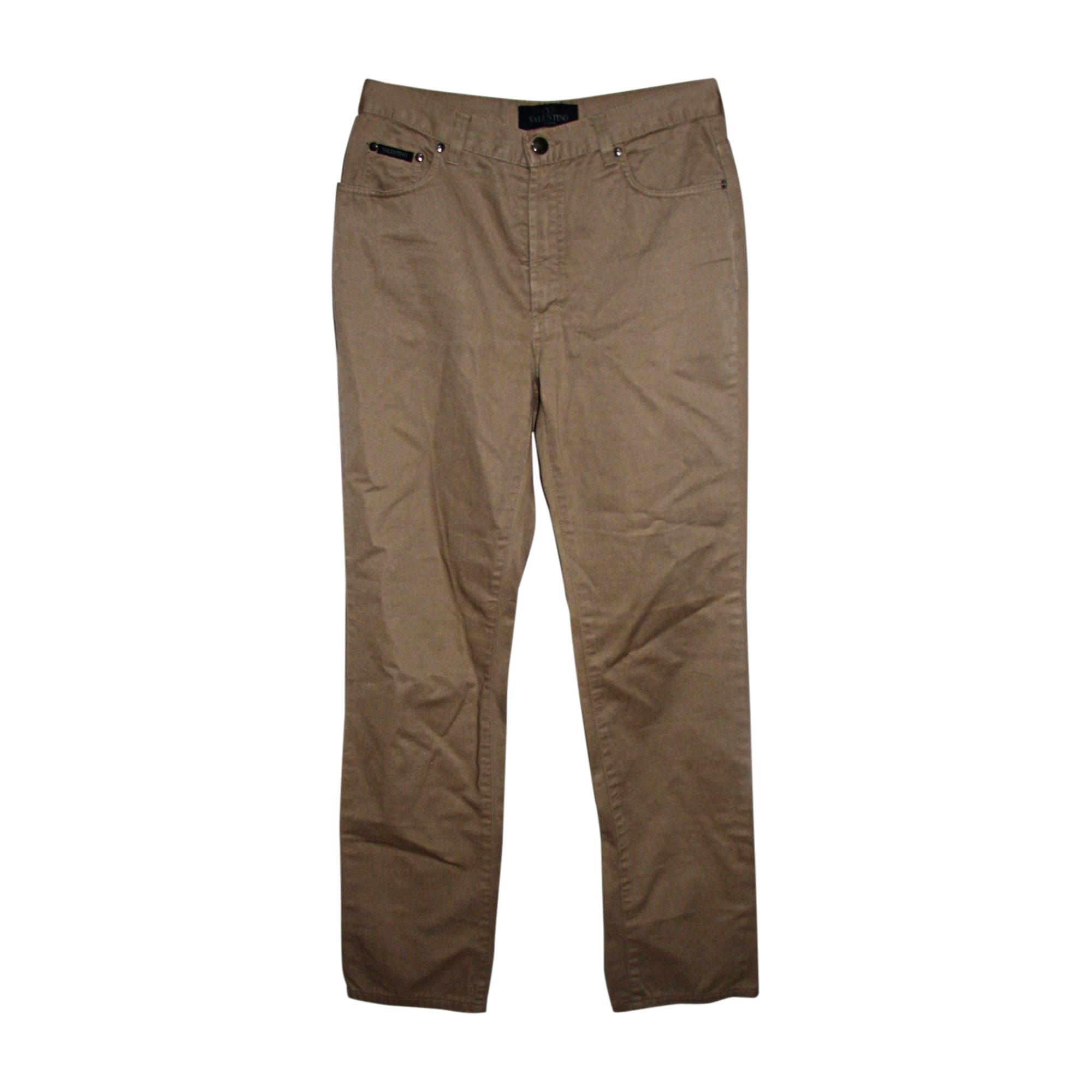 Jeans droit VALENTINO Beige, camel