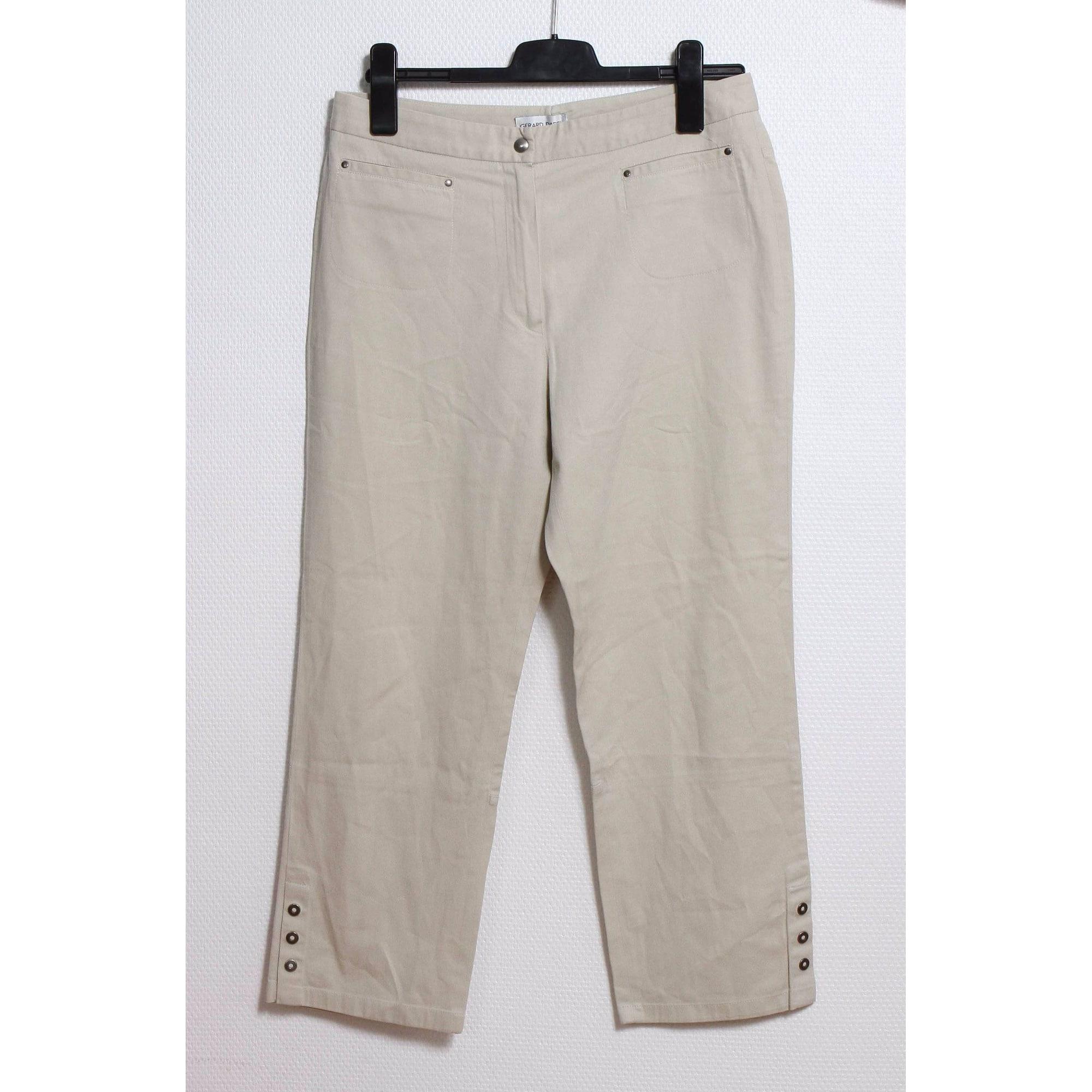 Pantalon droit GERARD DAREL Beige, camel