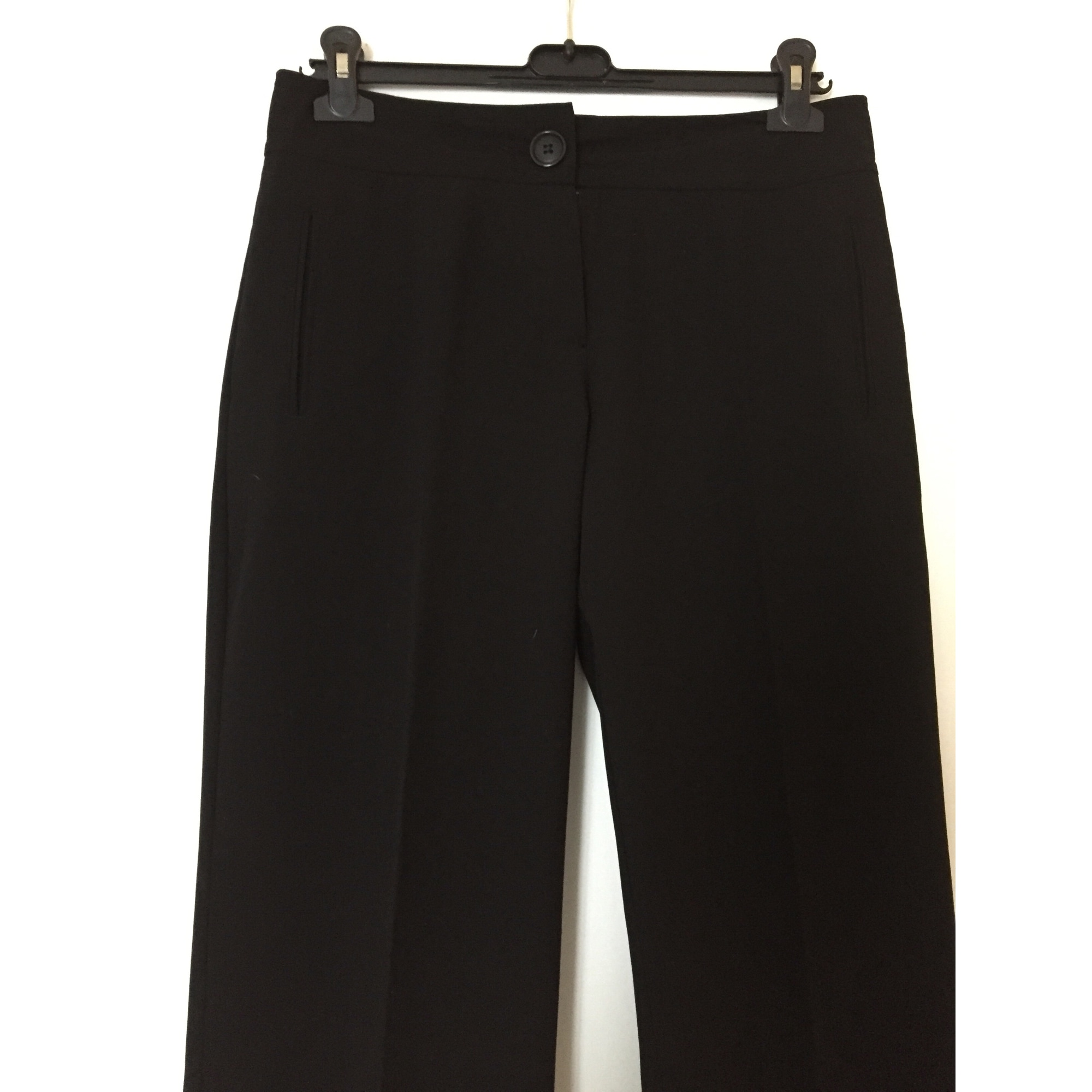 Pantalon très evasé, patte d'éléphant ERNEST Noir