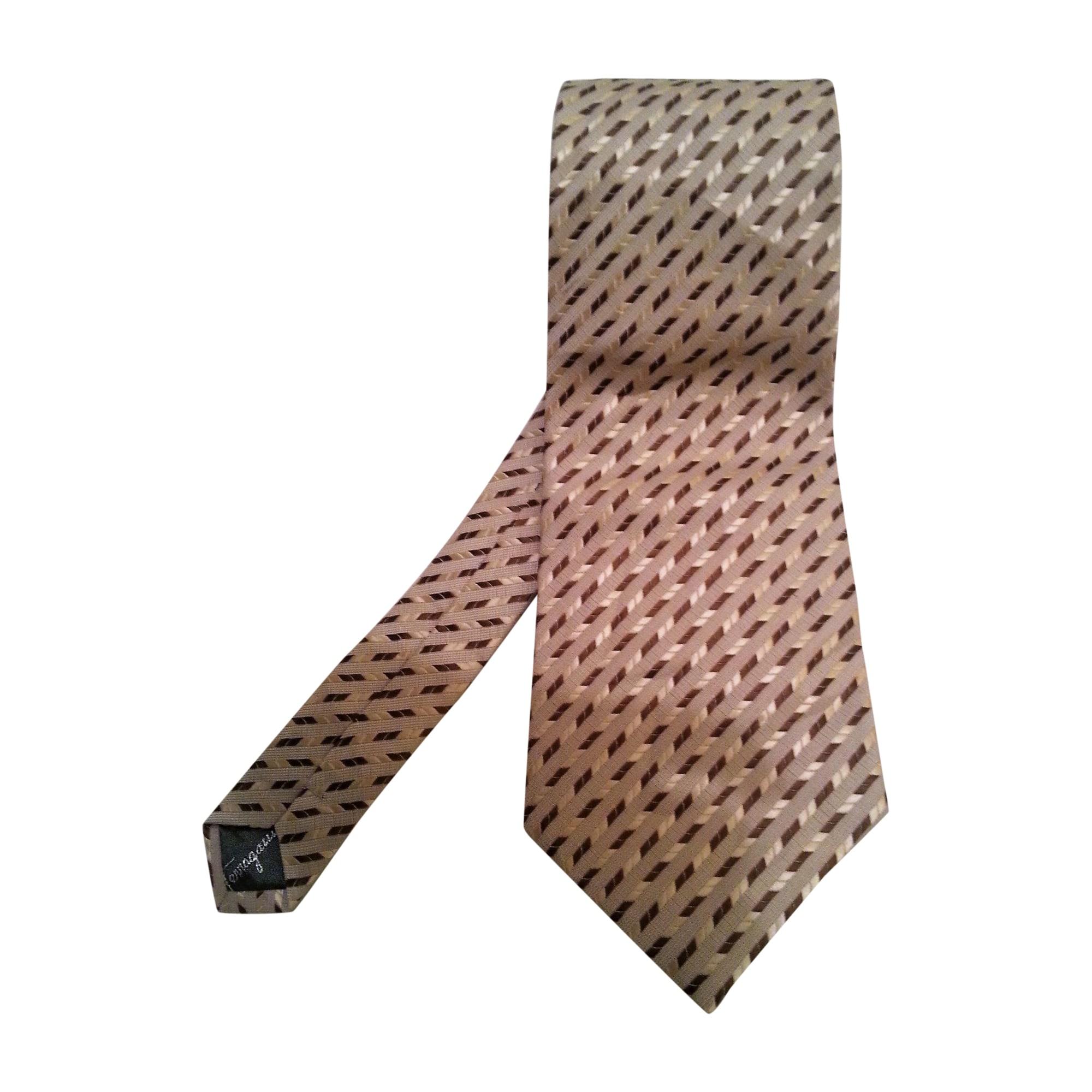 Cravate SALVATORE FERRAGAMO Beige, camel