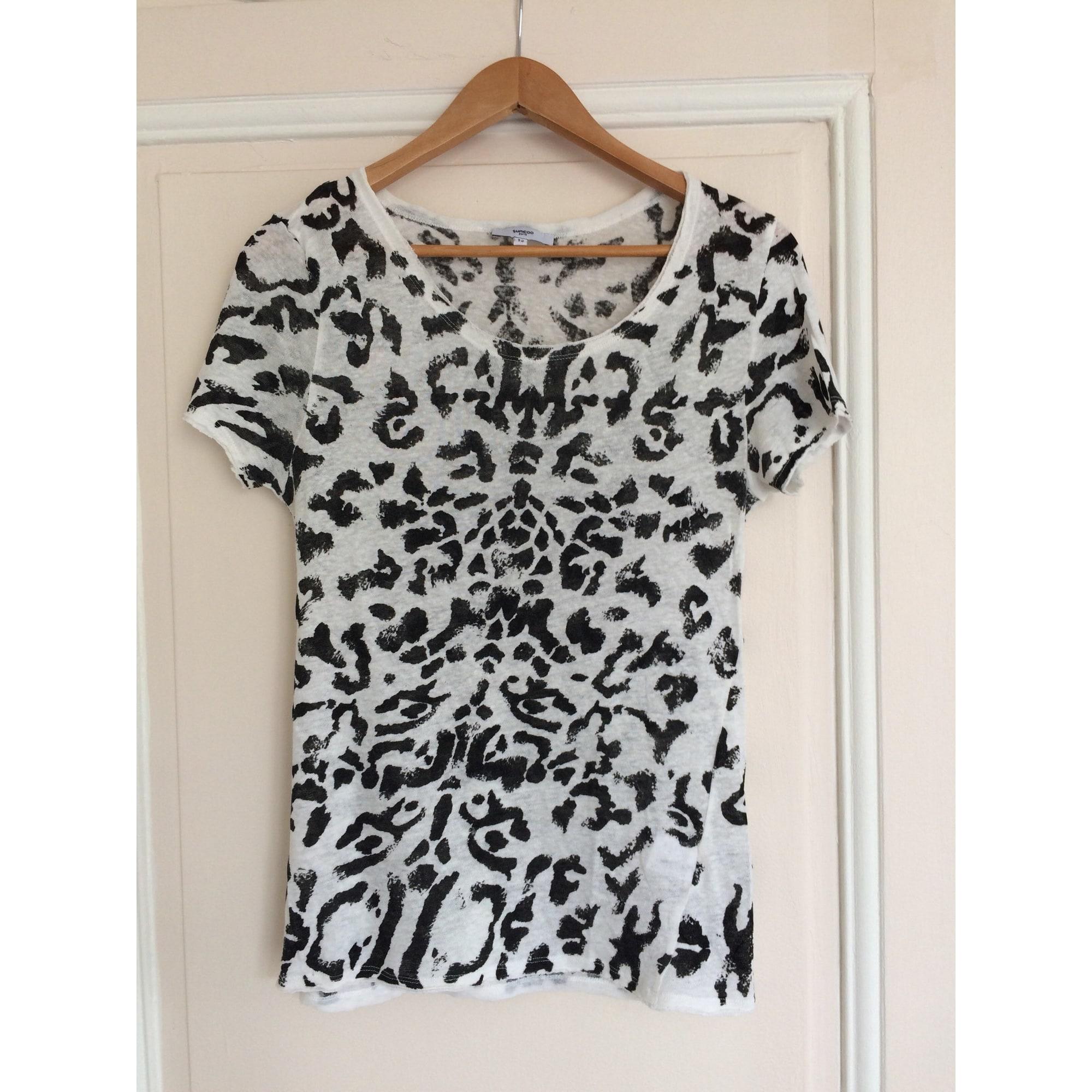 Top, tee-shirt SUNCOO Imprimés animaliers