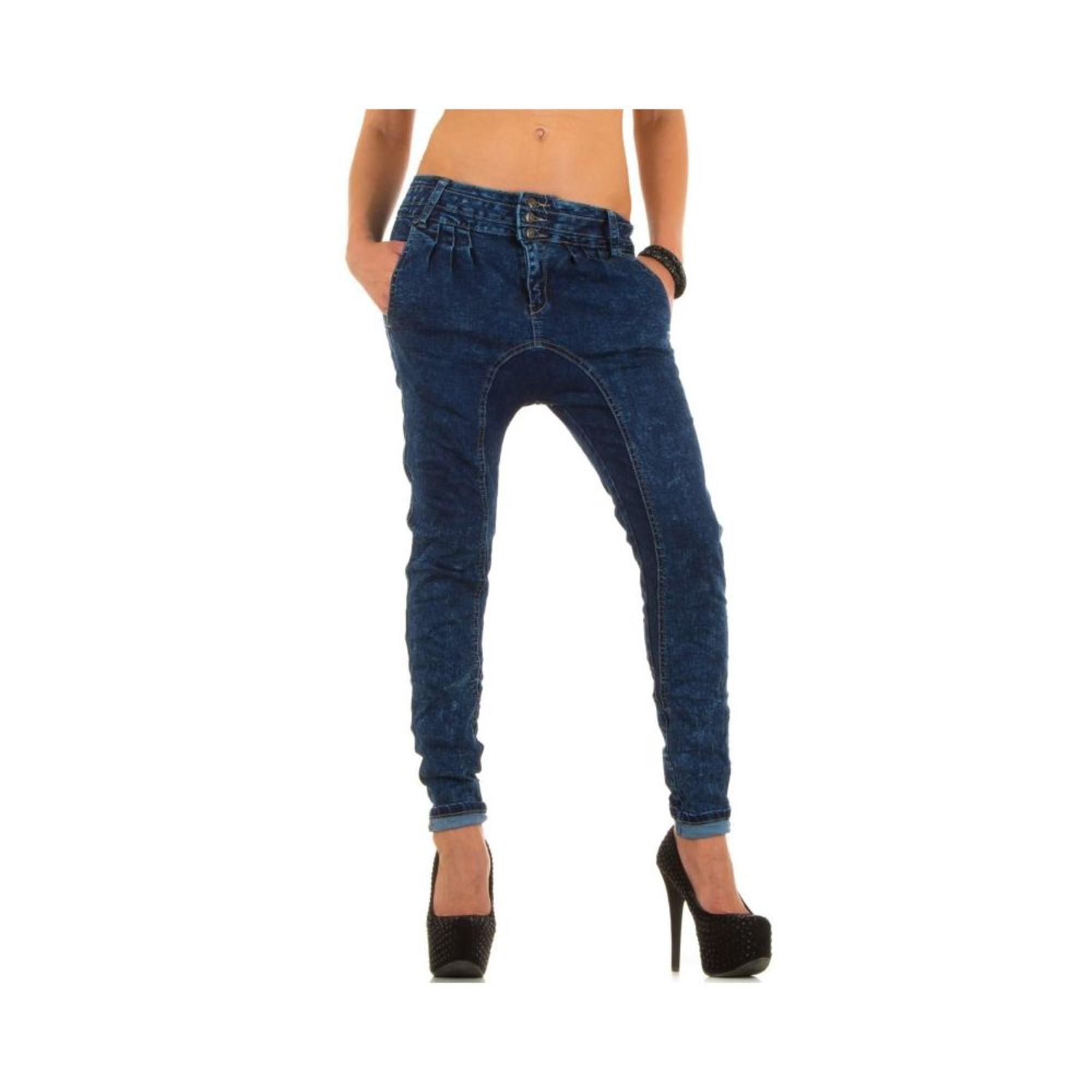 Jeans large, boyfriend SIMPLY CHIC Bleu, bleu marine, bleu turquoise