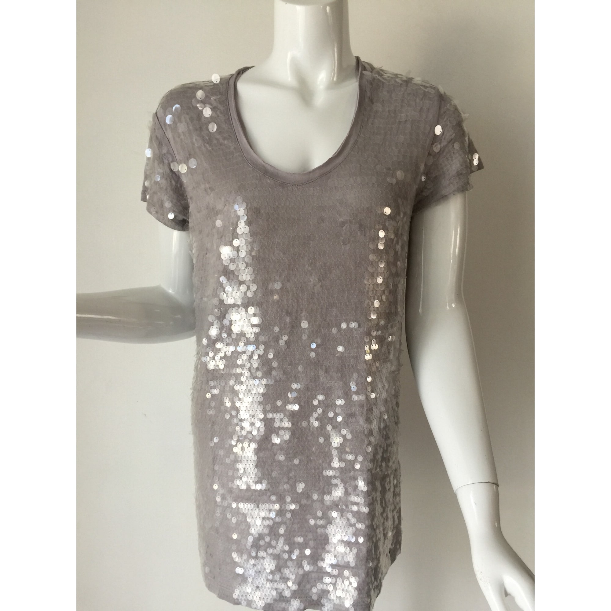 Top, tee-shirt GUESS Gris, anthracite