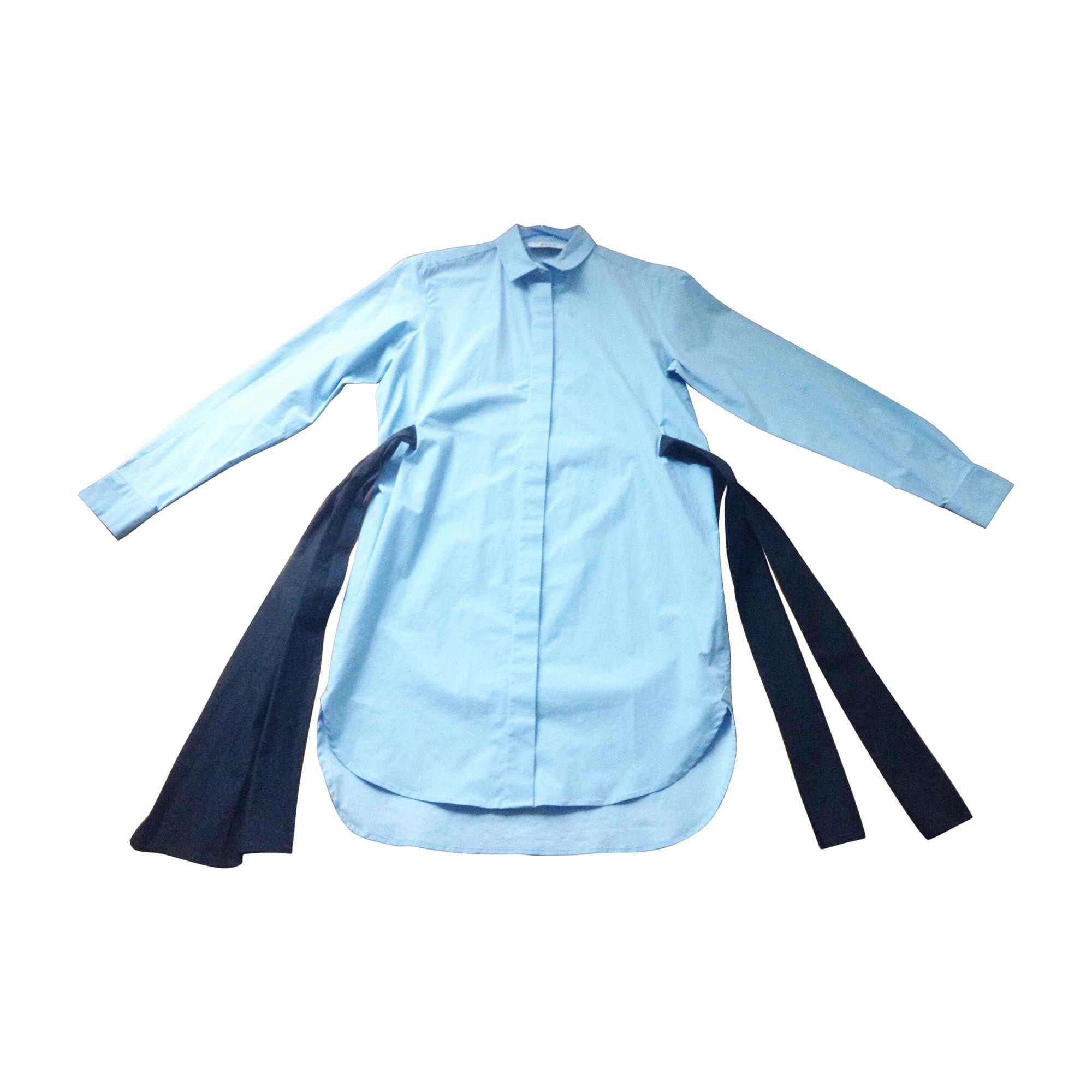 Robe tunique MSGM Bleu, bleu marine, bleu turquoise