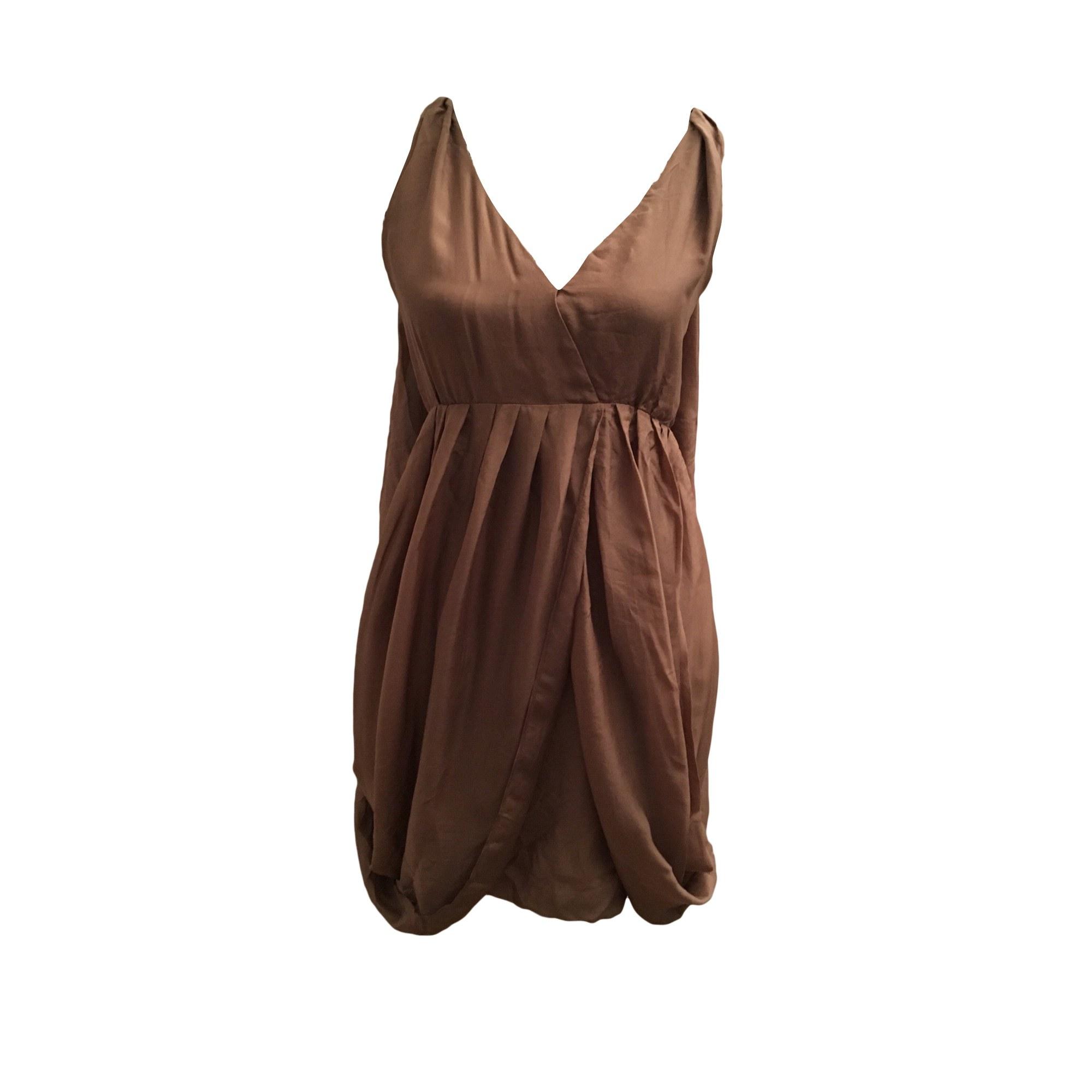 Robe courte COMPTOIR DES COTONNIERS Beige, camel