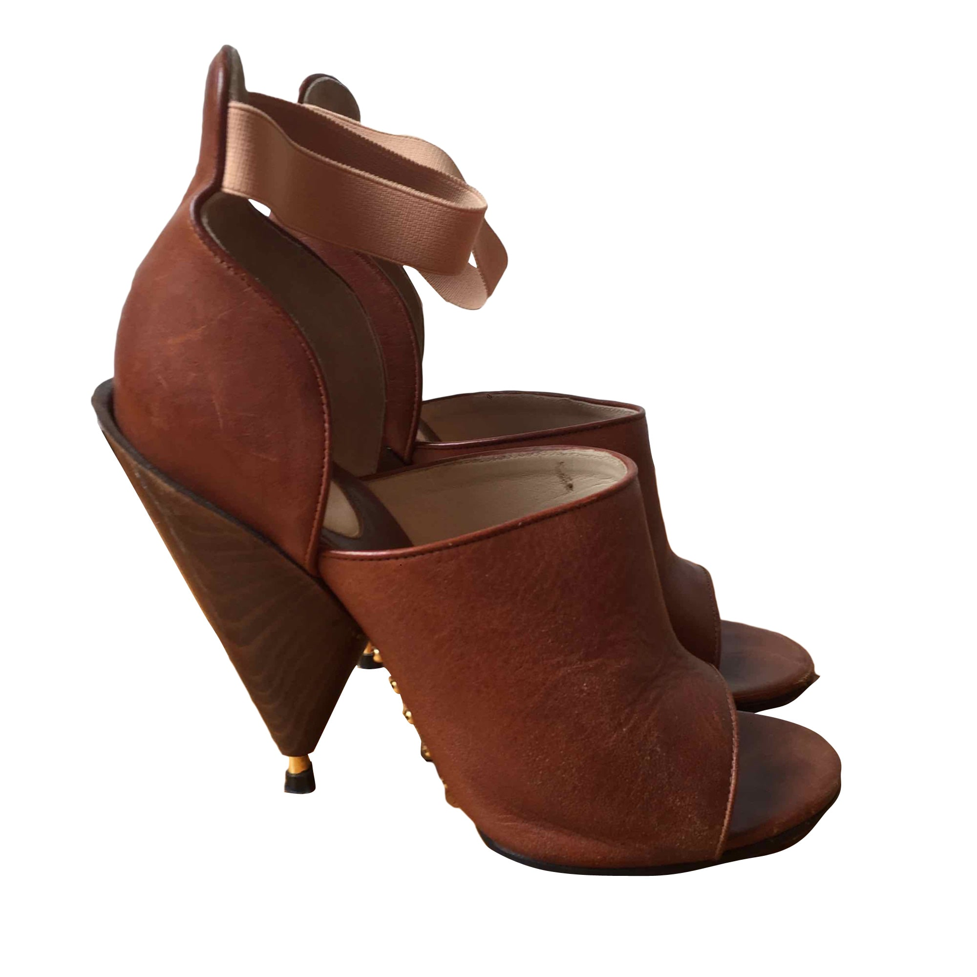 Heeled Sandals GIVENCHY Beige, camel