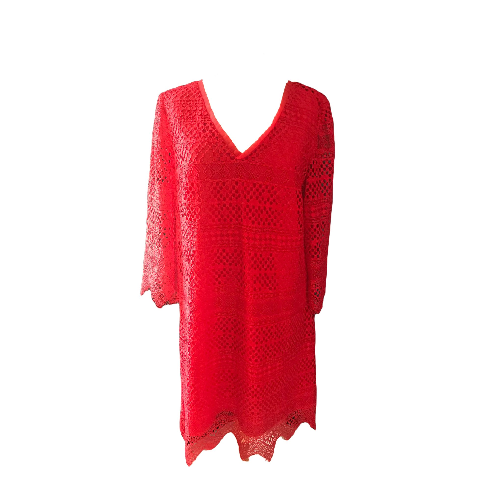 Robe courte TWIN-SET SIMONA BARBIERI Rouge, bordeaux