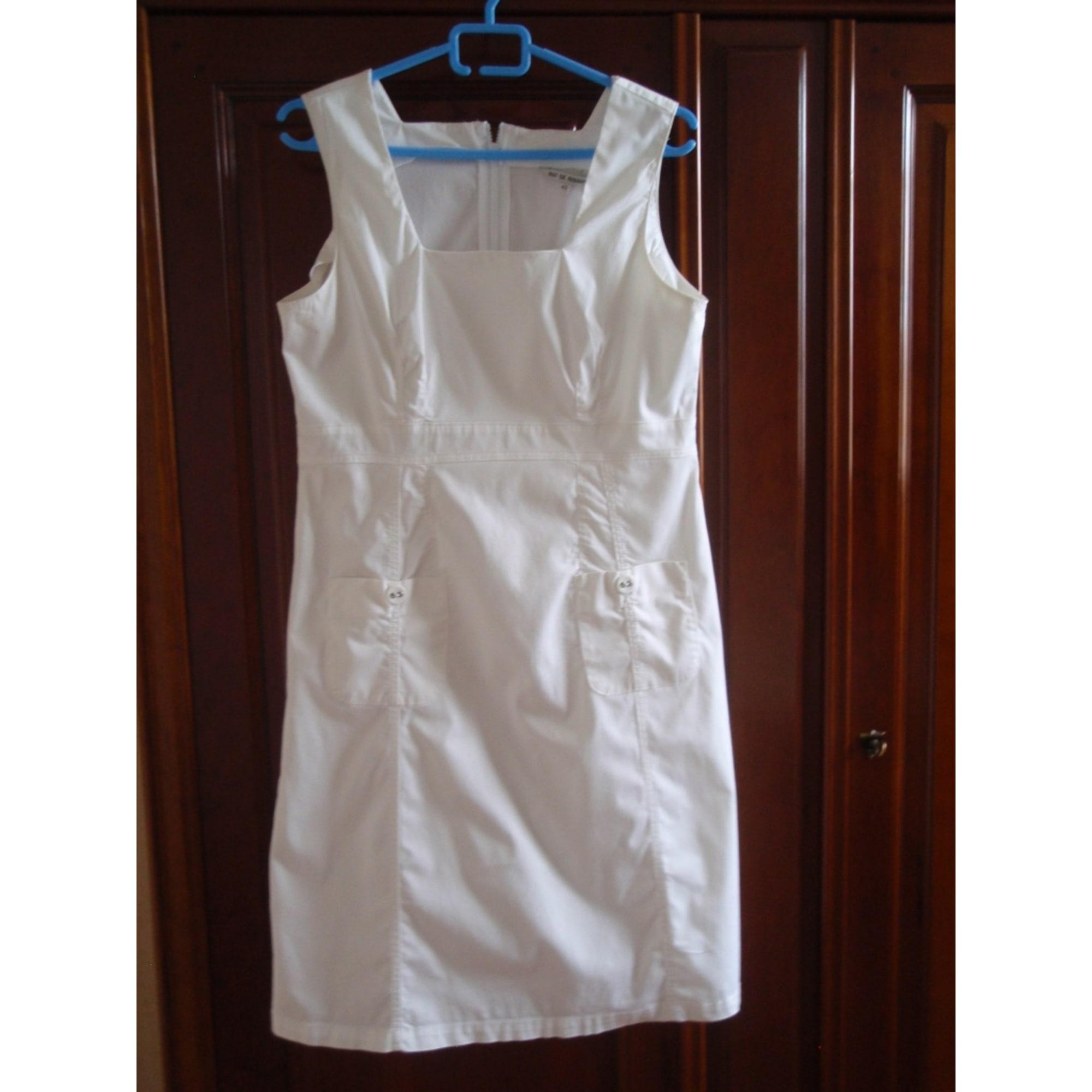 Robe courte MAT DE MISAINE Blanc, blanc cassé, écru