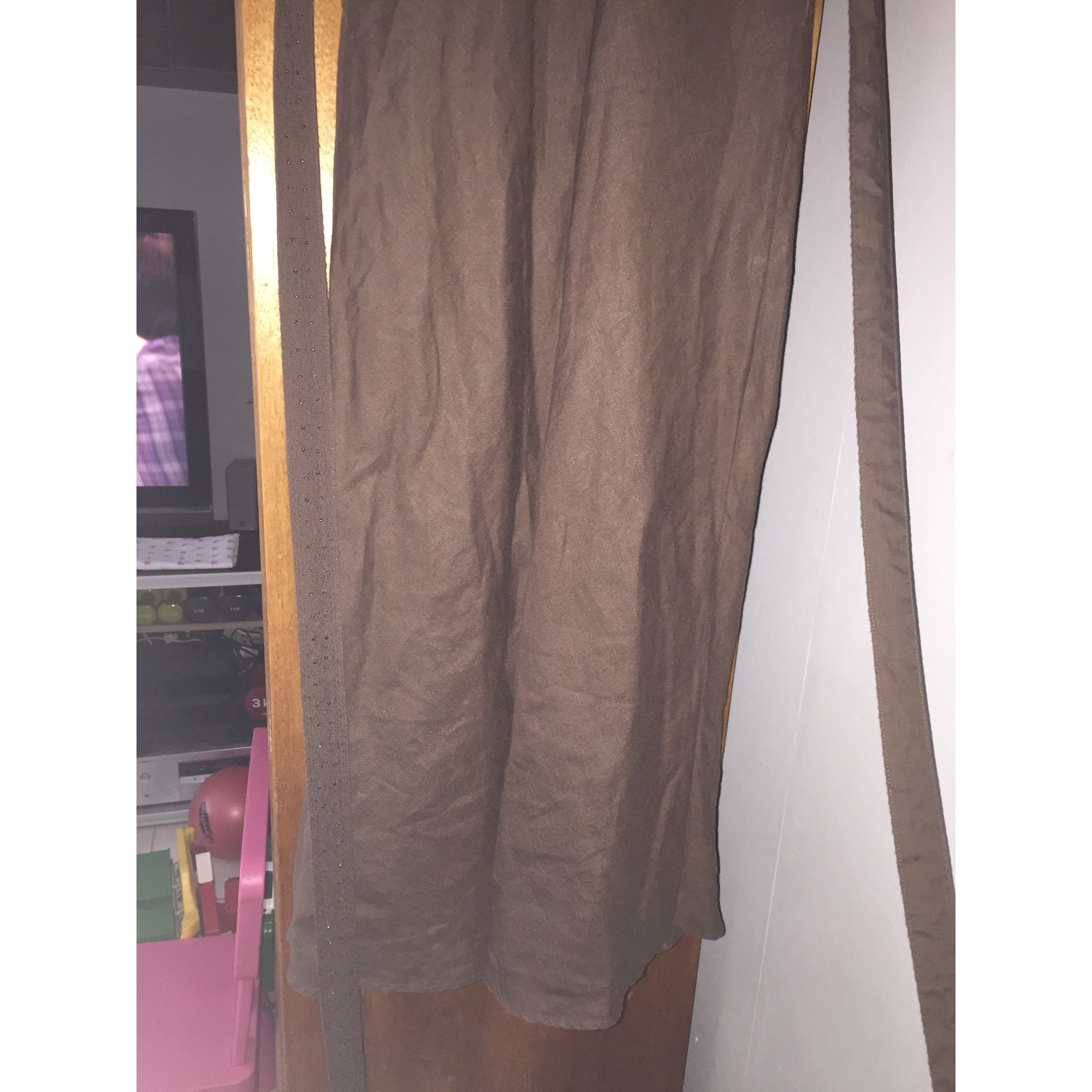 Robe longue CAROLL Marron