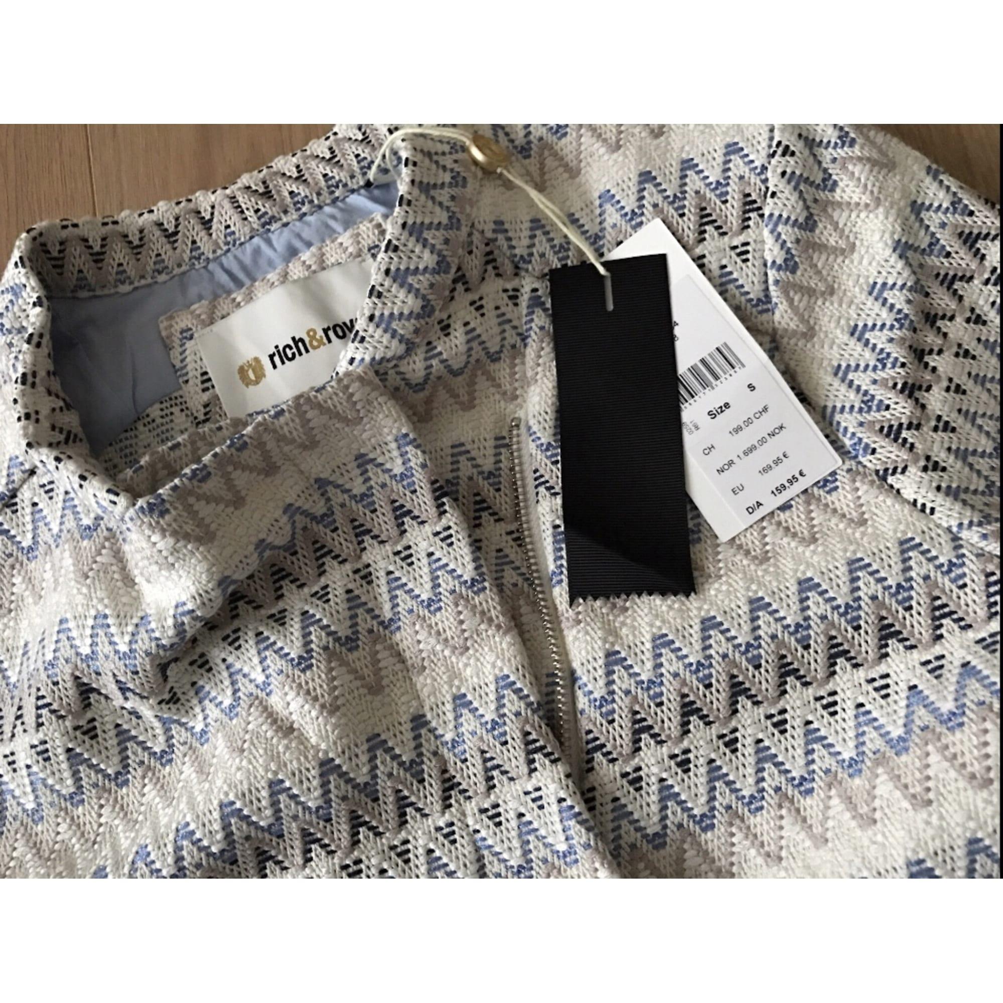 Blazer, veste tailleur RICH & ROYAL Blanc, blanc cassé, écru