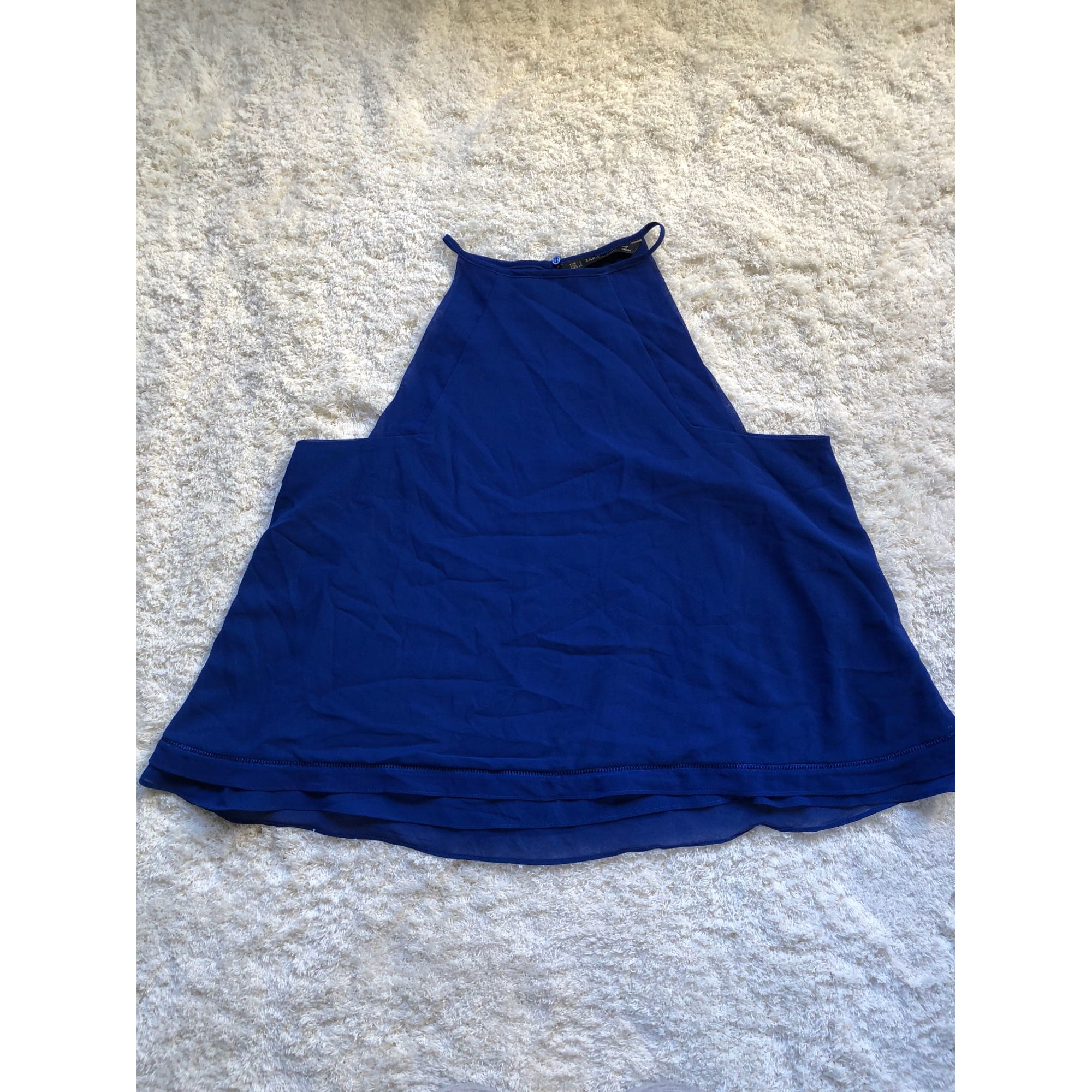 Débardeur ZARA Bleu, bleu marine, bleu turquoise