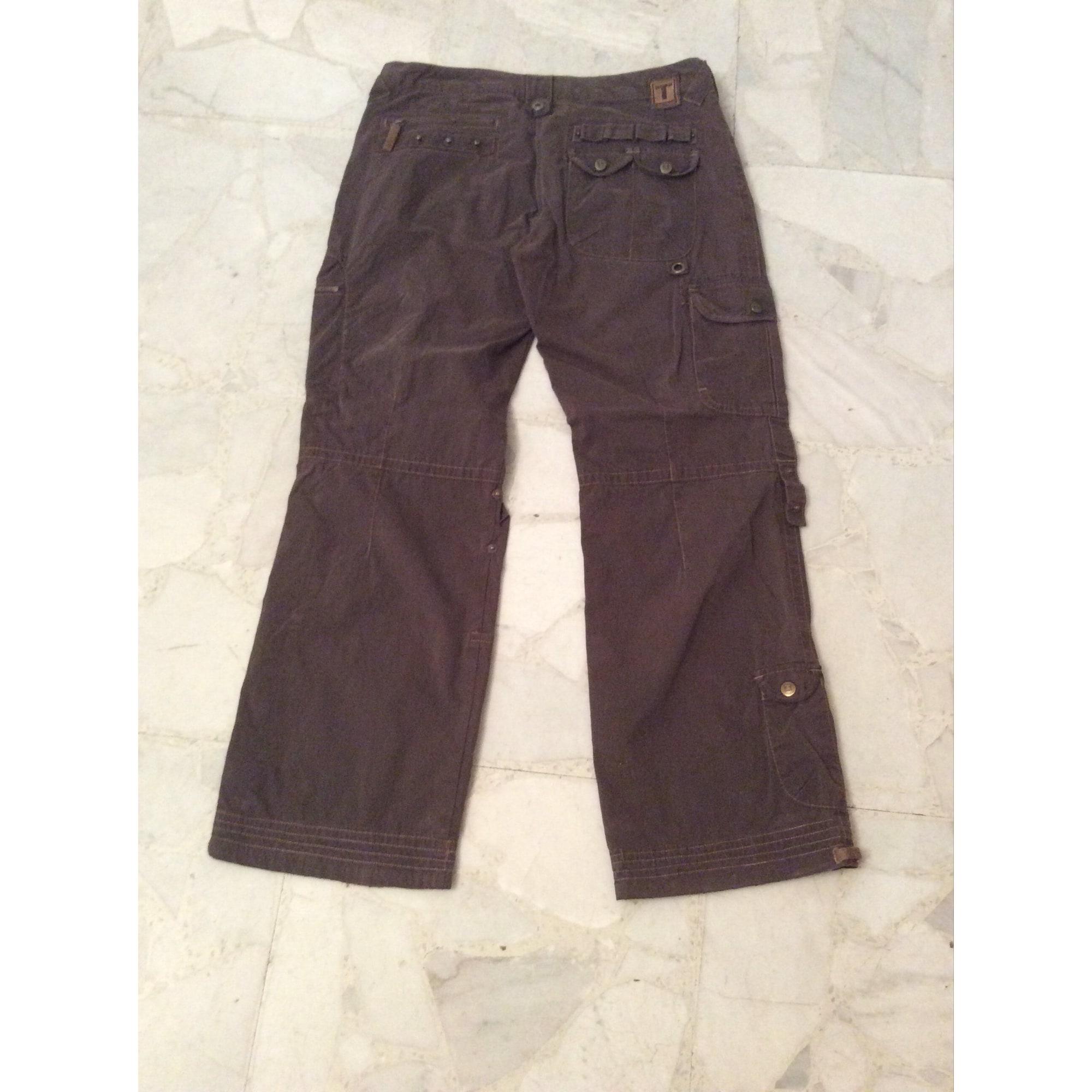Pantalon large TIMEZONE Marron
