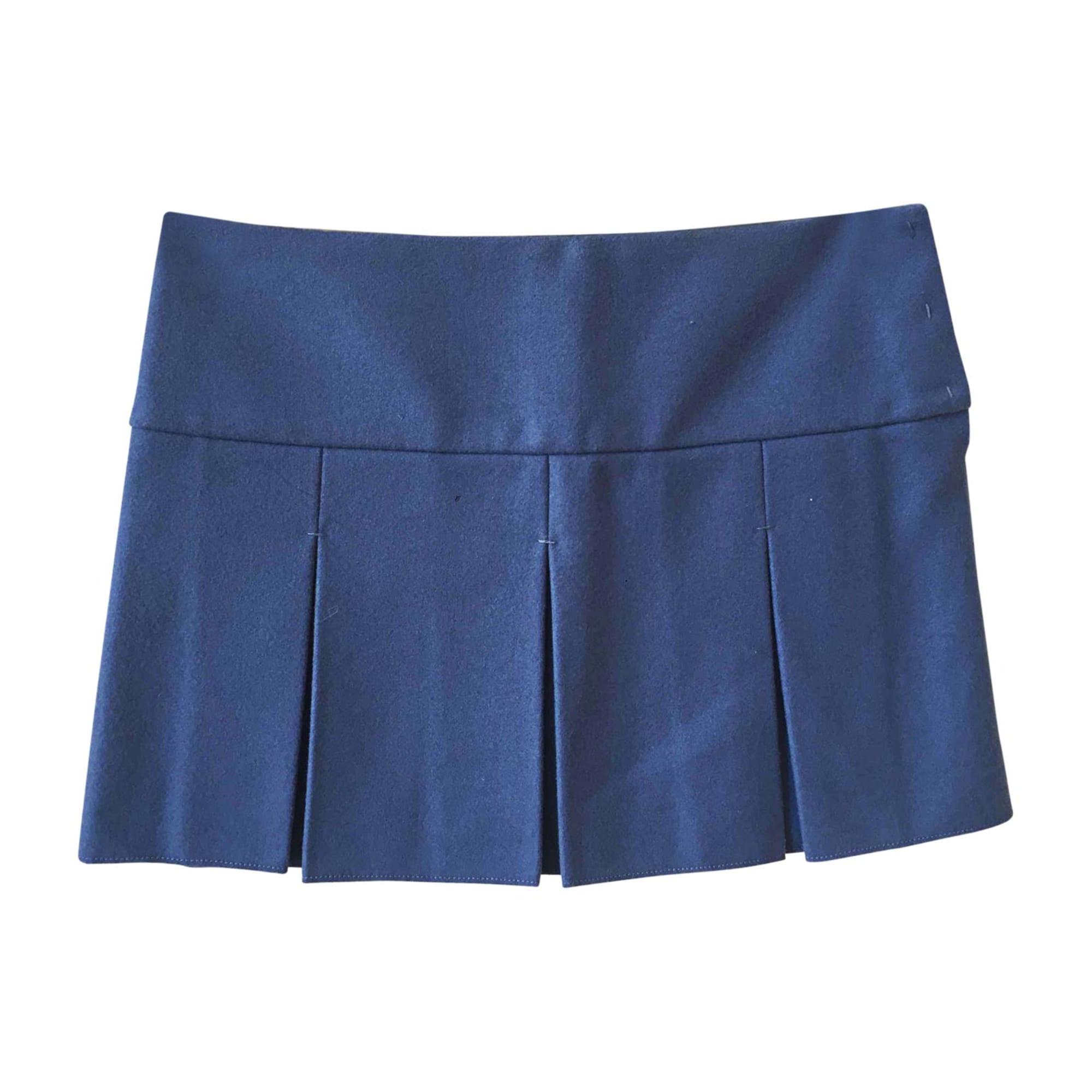 Jupe courte MIU MIU Bleu, bleu marine, bleu turquoise