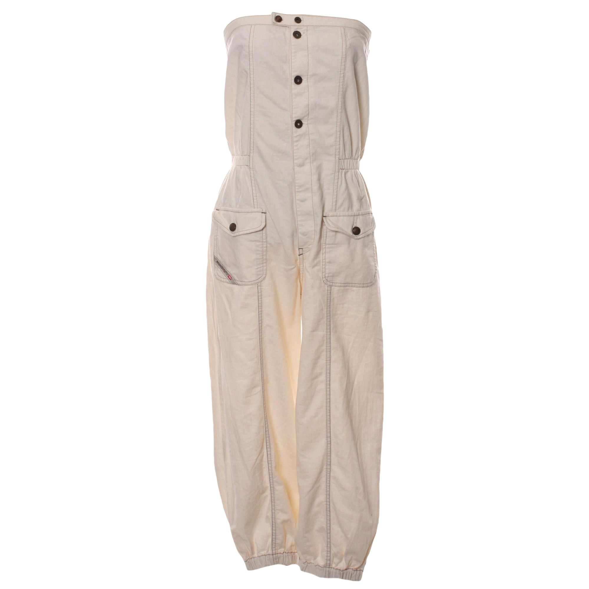 Robe mi-longue DIESEL Blanc, blanc cassé, écru