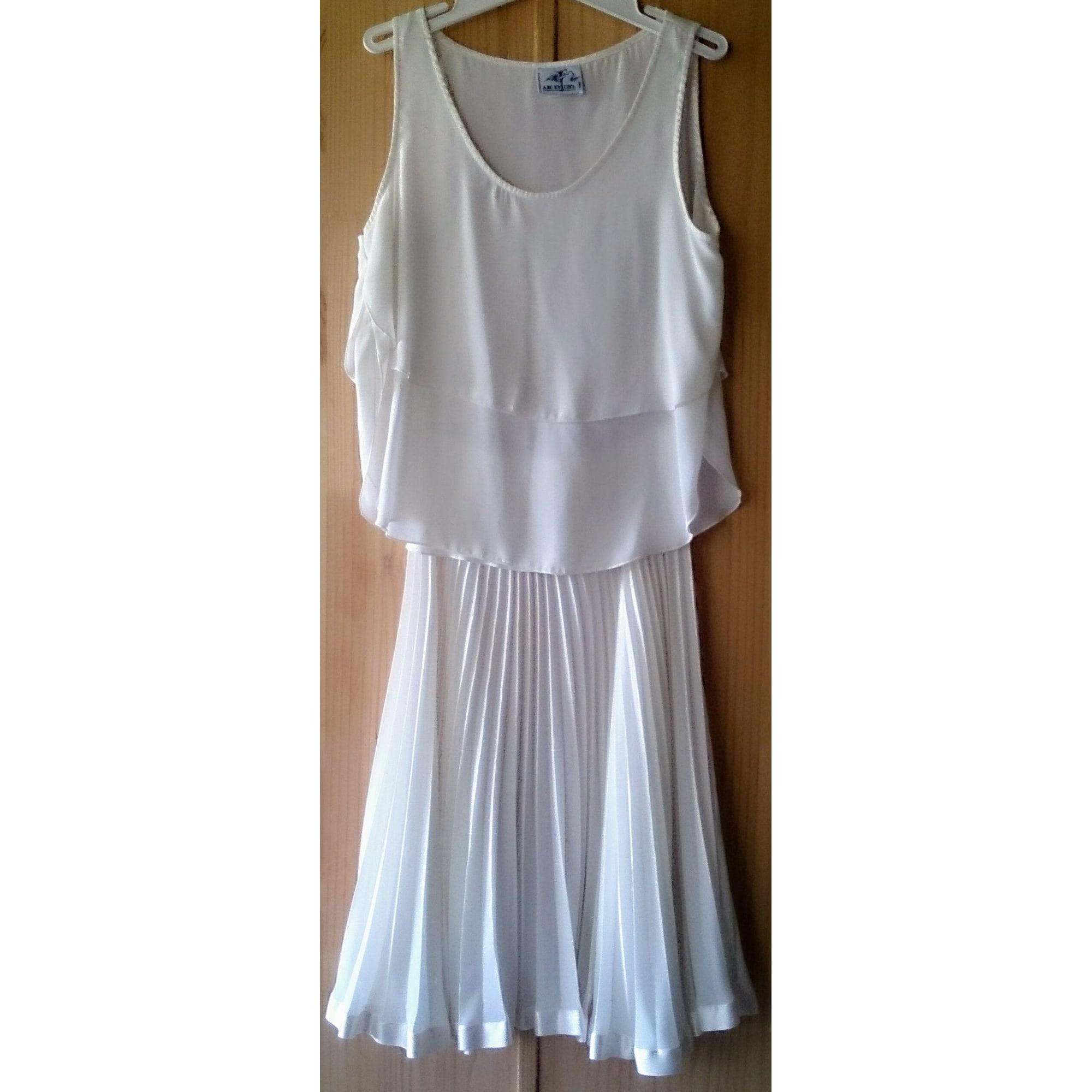Robe mi-longue ARC EN CIEL Blanc, blanc cassé, écru